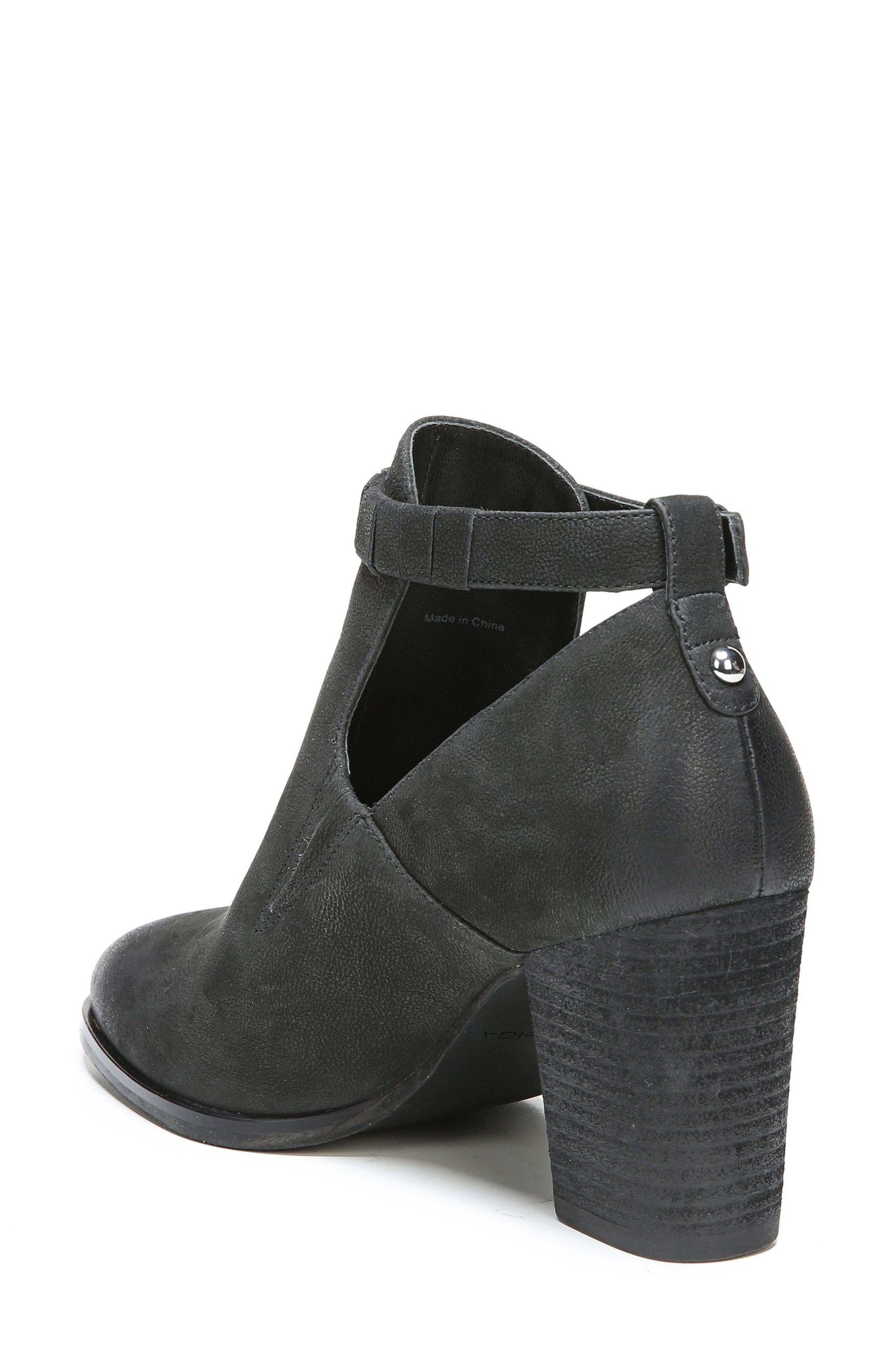 Samantha Block Heel Bootie,                             Alternate thumbnail 2, color,                             Black Nubuck
