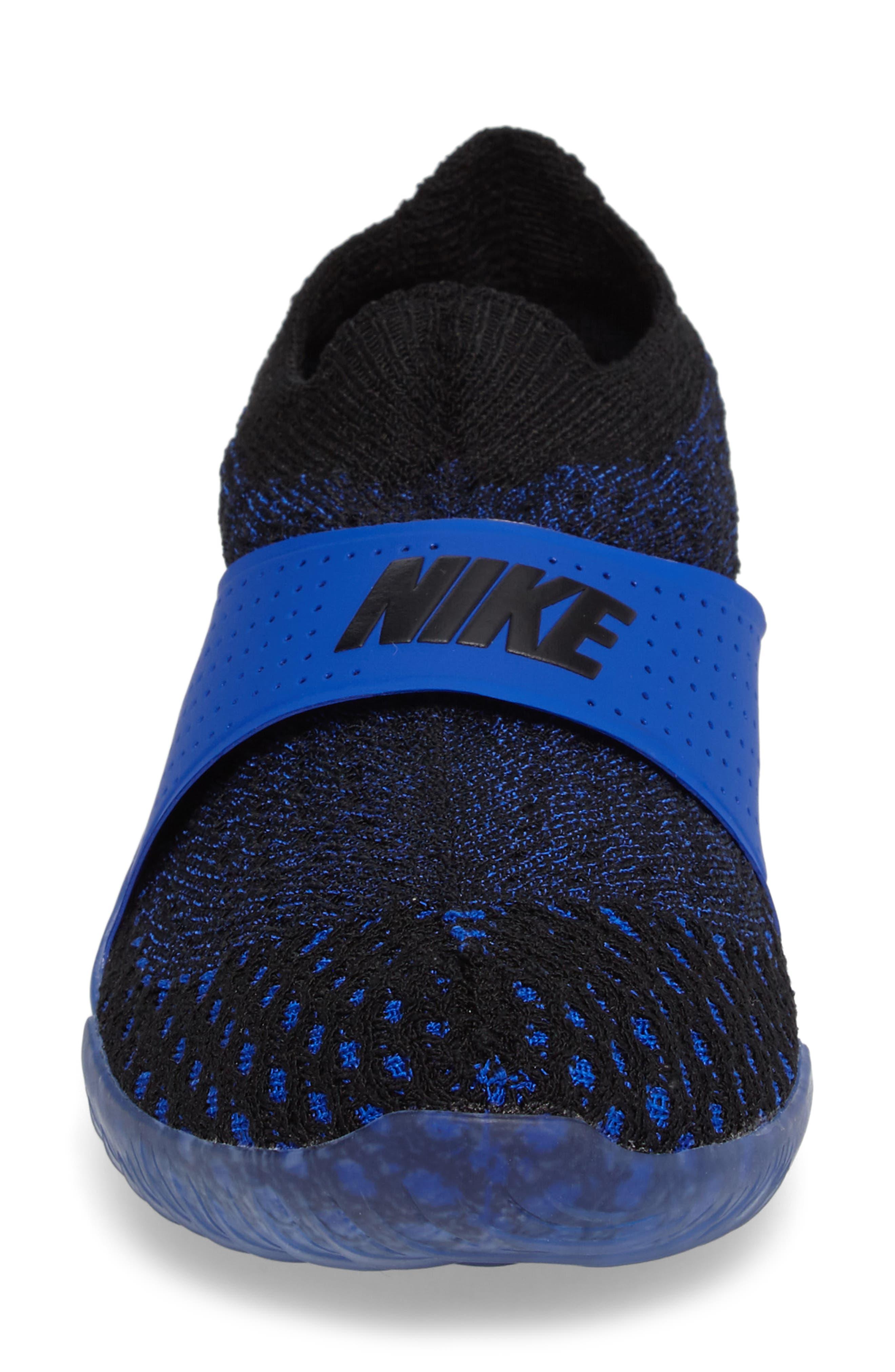 City Knife 3 Flyknit Sneaker,                             Alternate thumbnail 4, color,                             Racer Blue/ Black/ Black