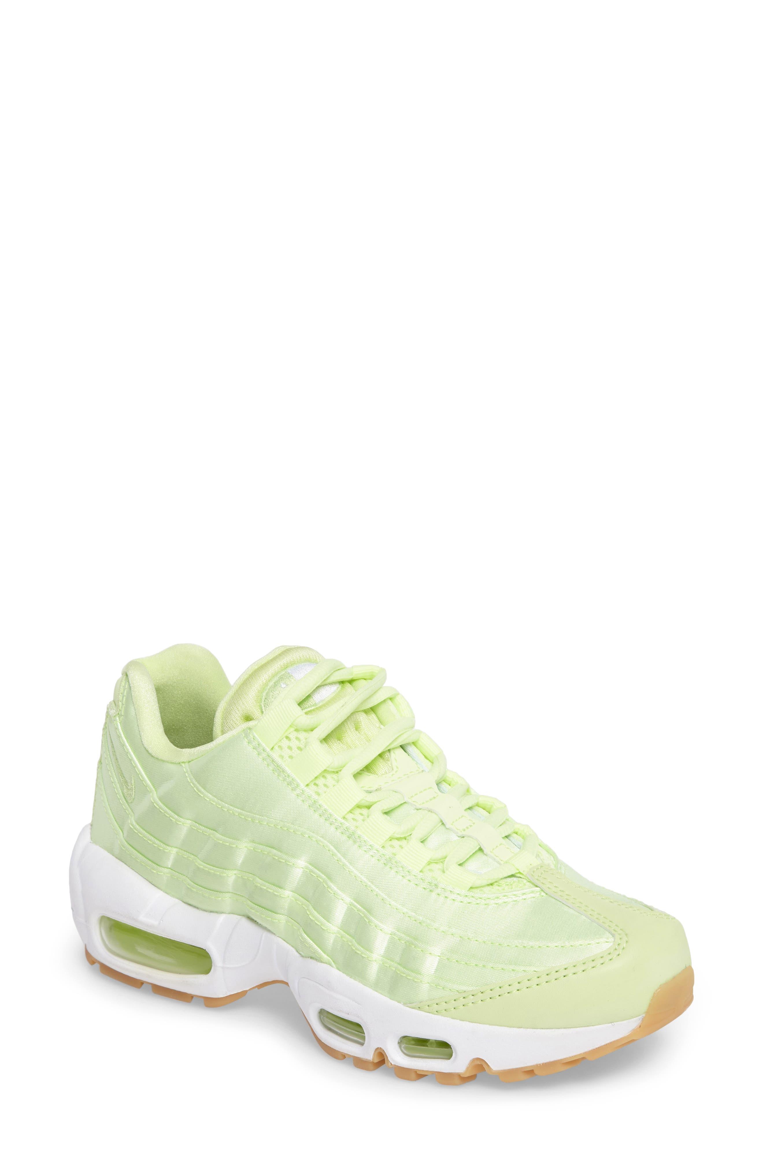 Air Max 95 QS Running Shoe,                             Main thumbnail 1, color,                             Liquid Lime/ Liquid Lime