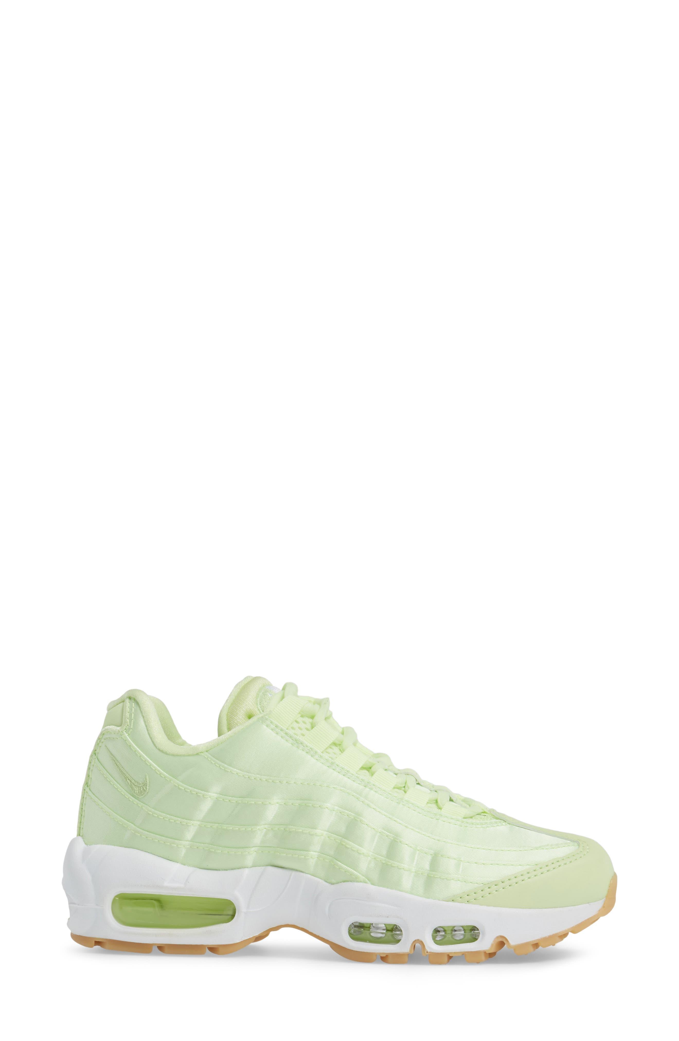 Air Max 95 QS Running Shoe,                             Alternate thumbnail 3, color,                             Liquid Lime/ Liquid Lime