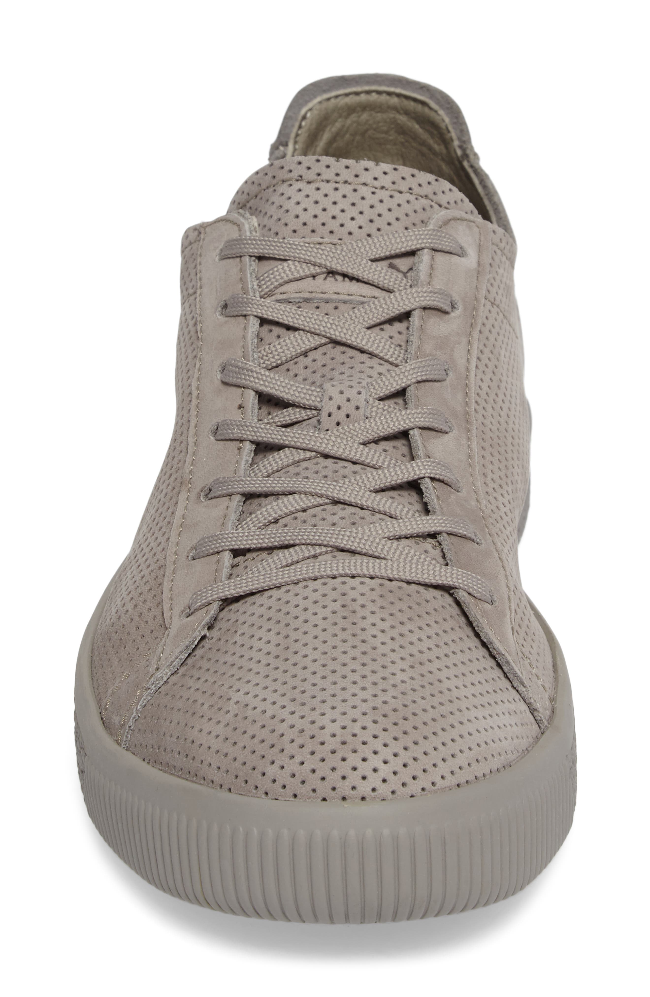 Stampd Clyde Sneaker,                             Alternate thumbnail 4, color,                             Drizzle/ Drizzle Leather