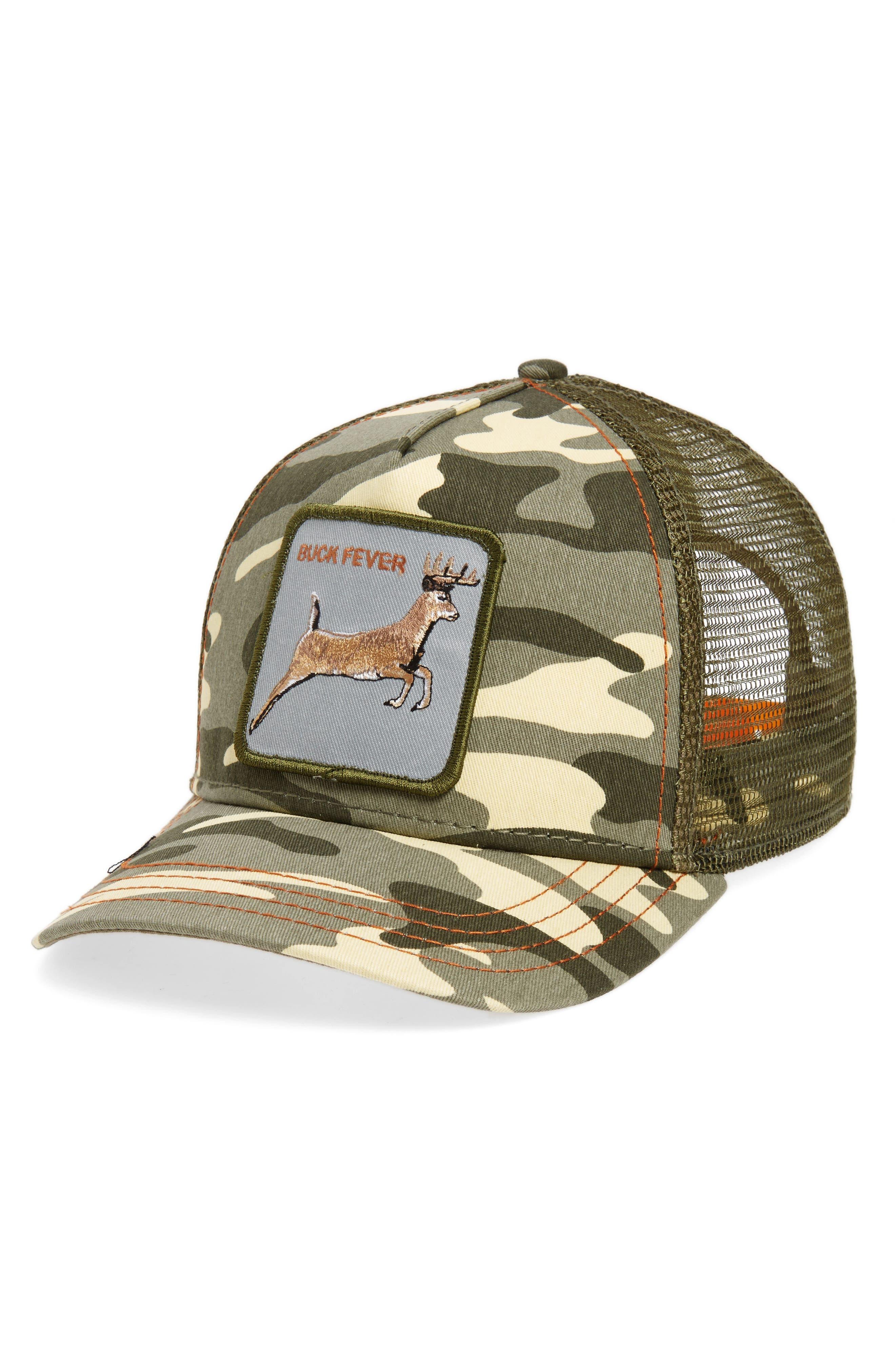 4 Points Trucker Hat,                         Main,                         color, Camo
