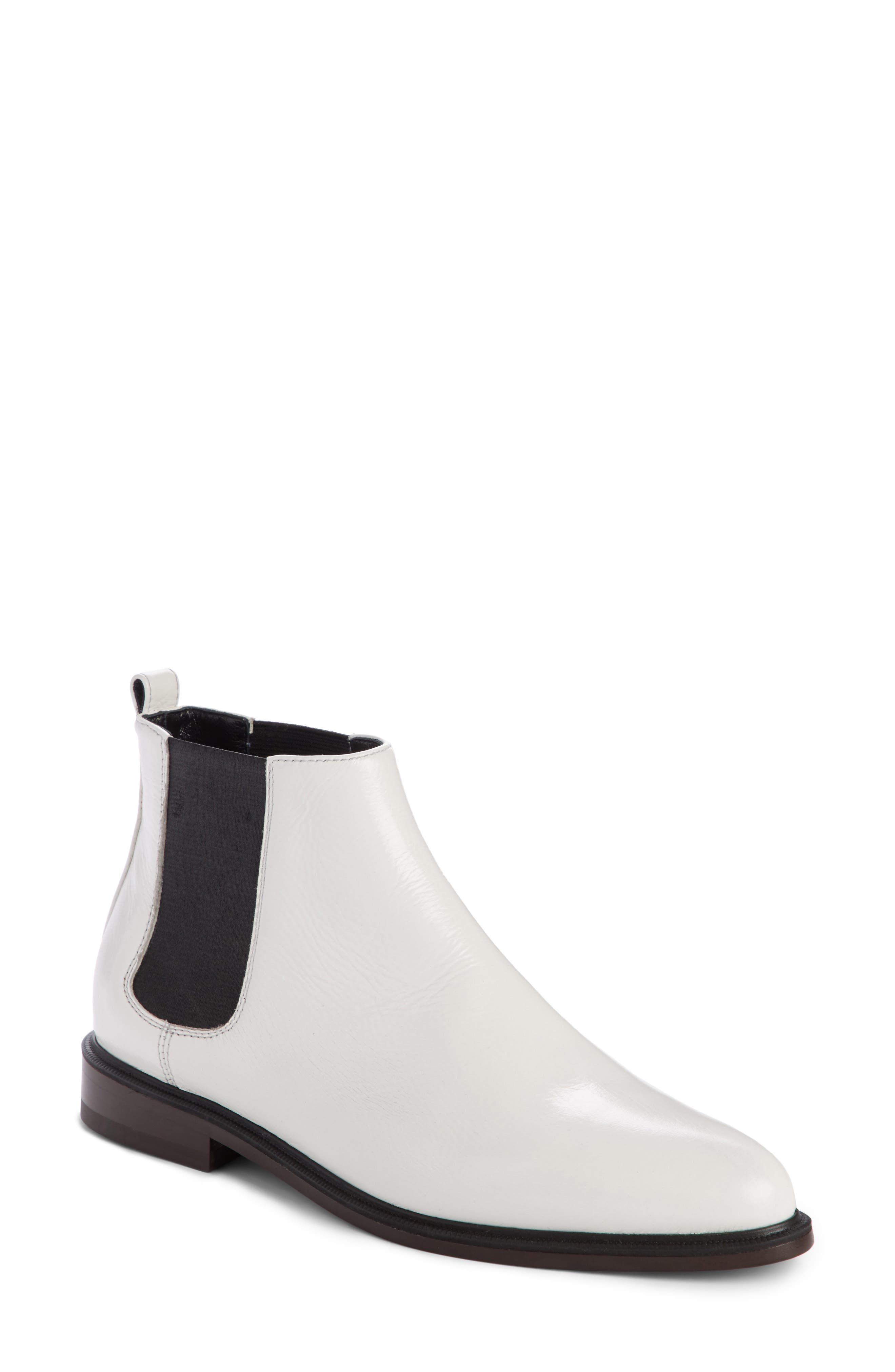 Chelsea Boot,                         Main,                         color, Optic White