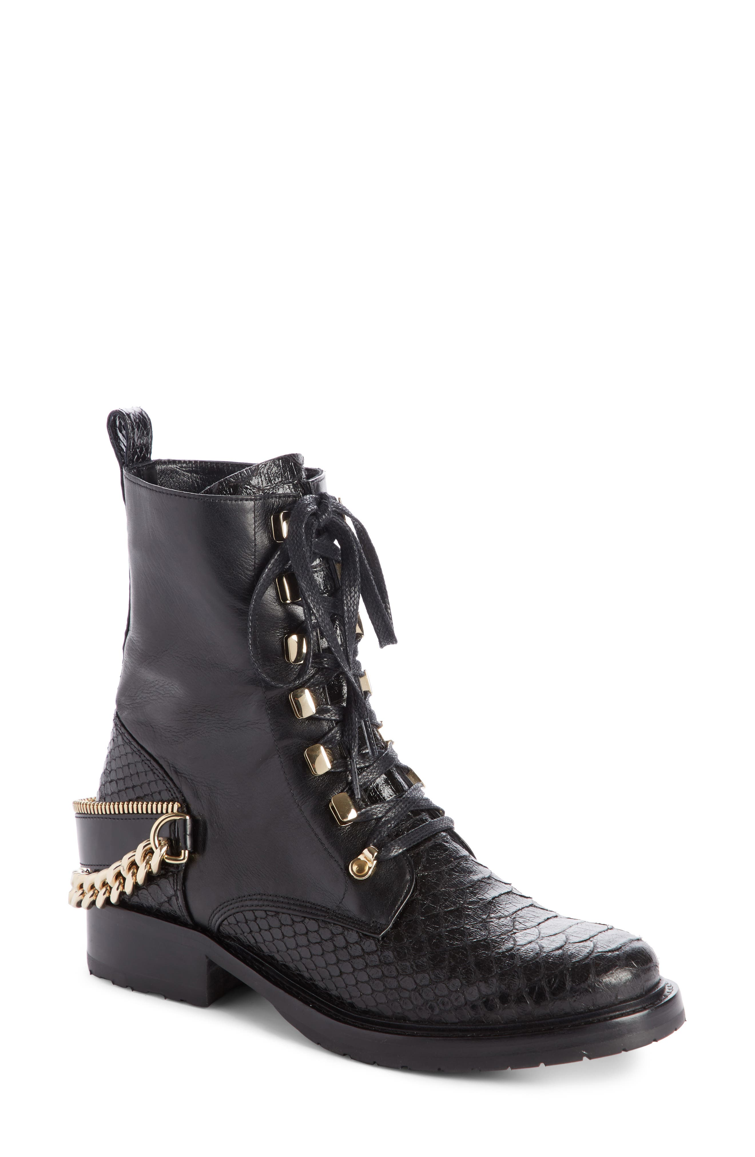 Alternate Image 1 Selected - Lanvin Chain Biker Boot (Women)