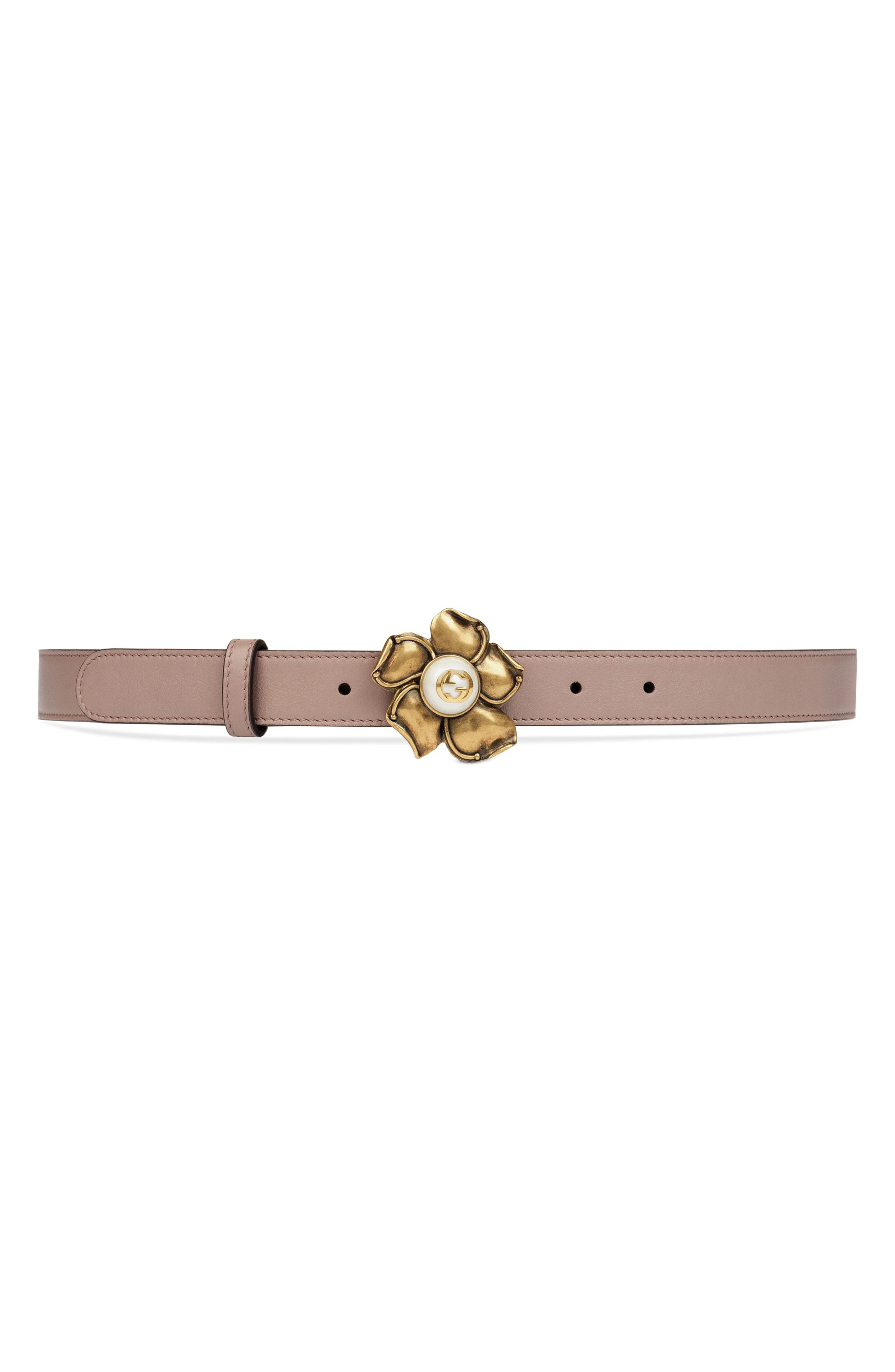 Alternate Image 1 Selected - Gucci Leather Belt