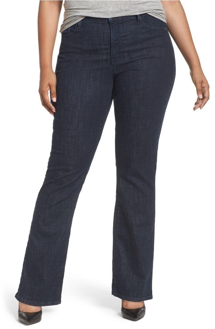 nydj barbara stretch bootcut jeans plus size nordstrom. Black Bedroom Furniture Sets. Home Design Ideas