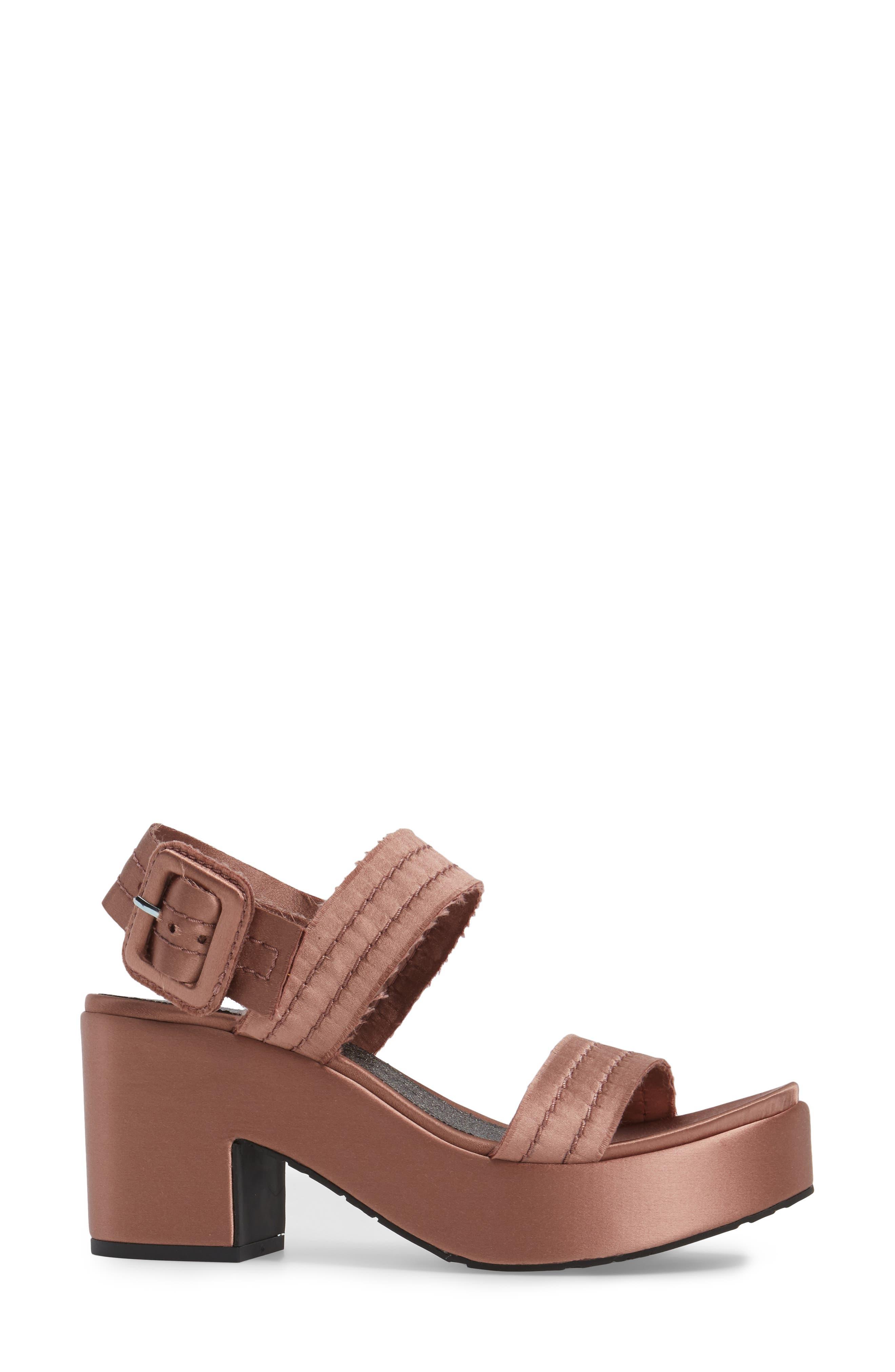 Decima Platform Sandal,                             Alternate thumbnail 3, color,                             Powder Satin