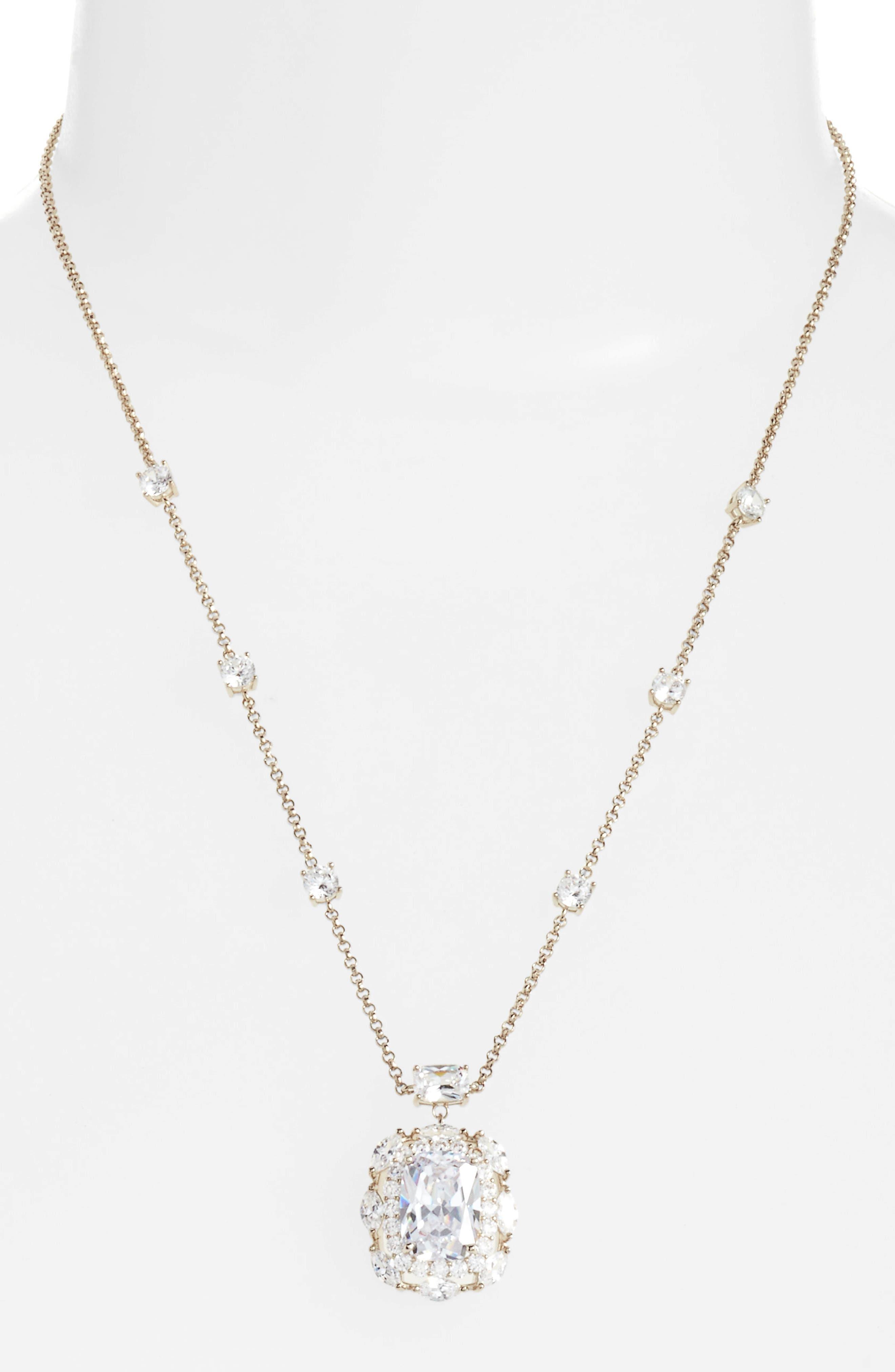 Alternate Image 2  - Nina Crystal Pendant Necklace