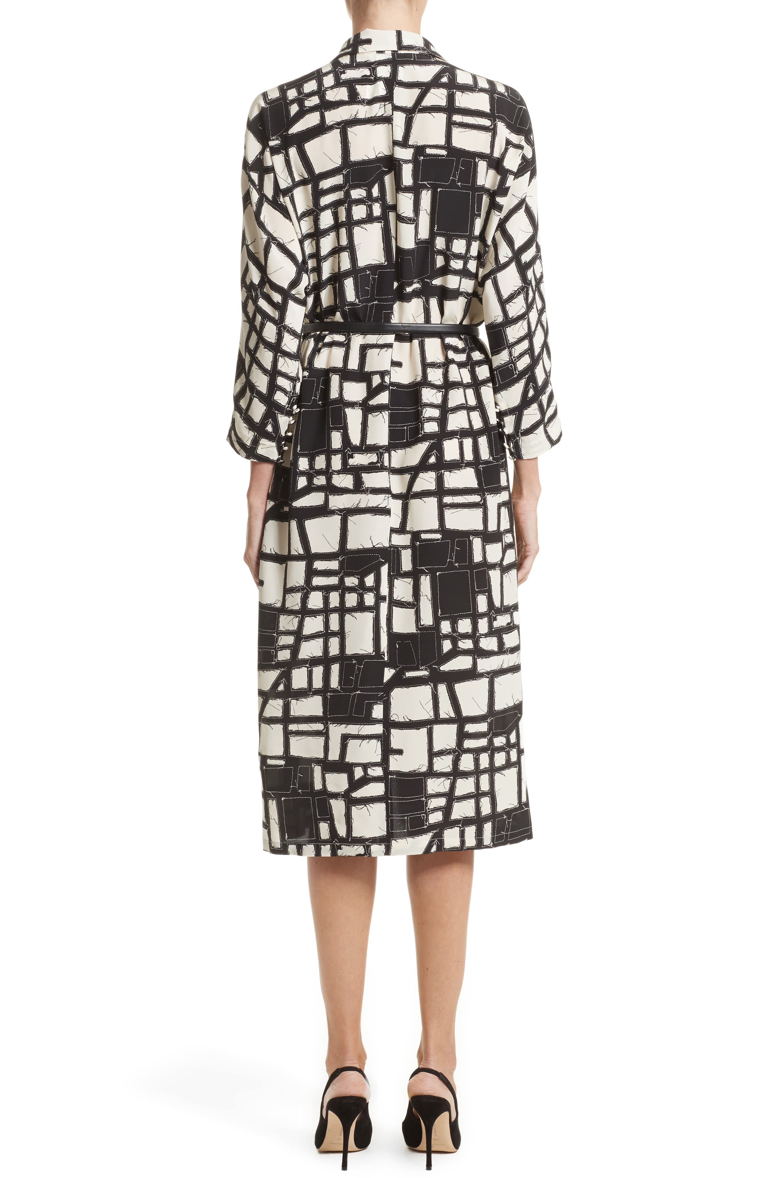 Alternate Image 2  - Max Mara Aligi Print Silk Dress