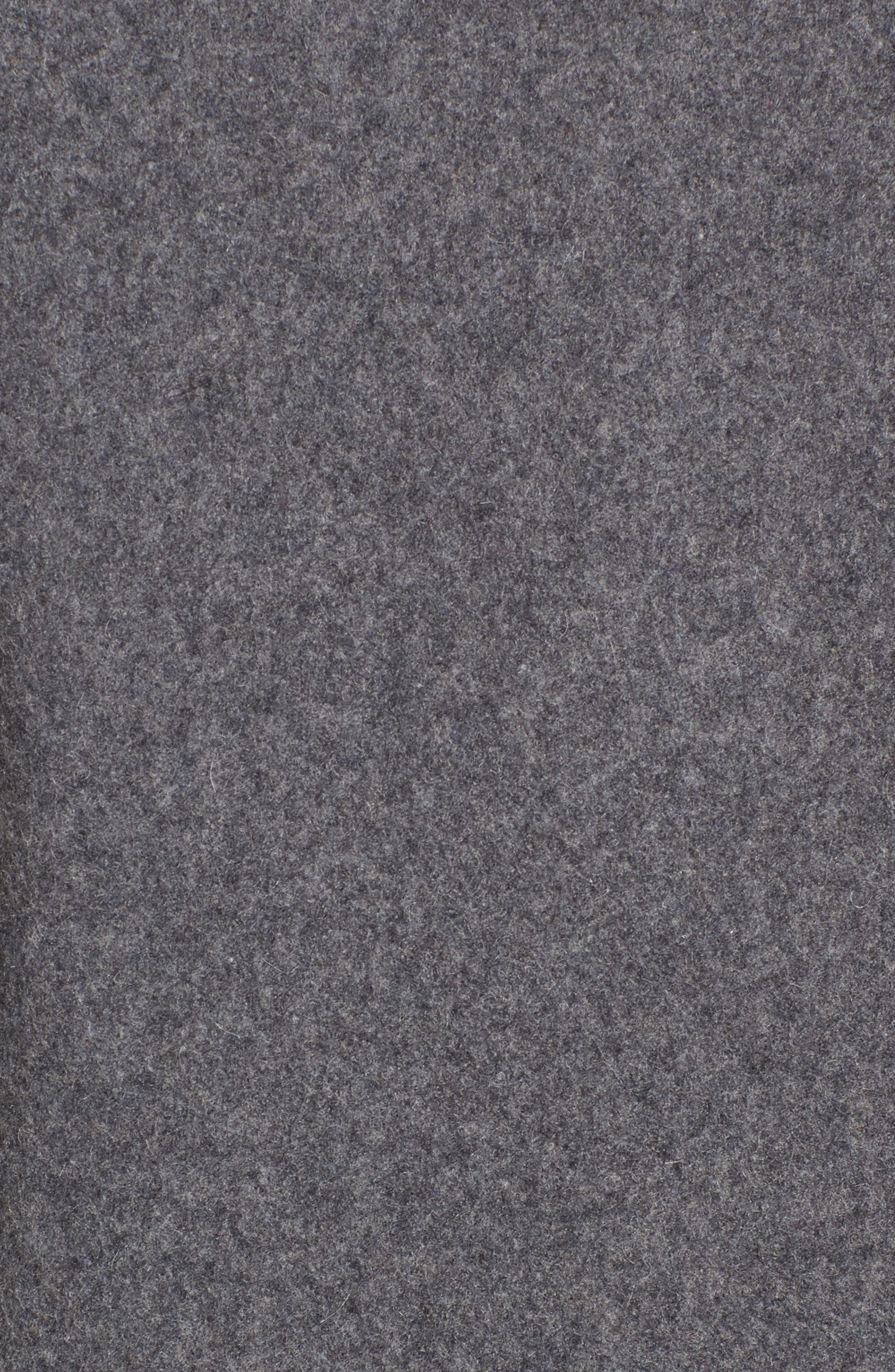 drop waist wool blend flounce coat,                             Alternate thumbnail 5, color,                             Soft Grey/ Light Grey