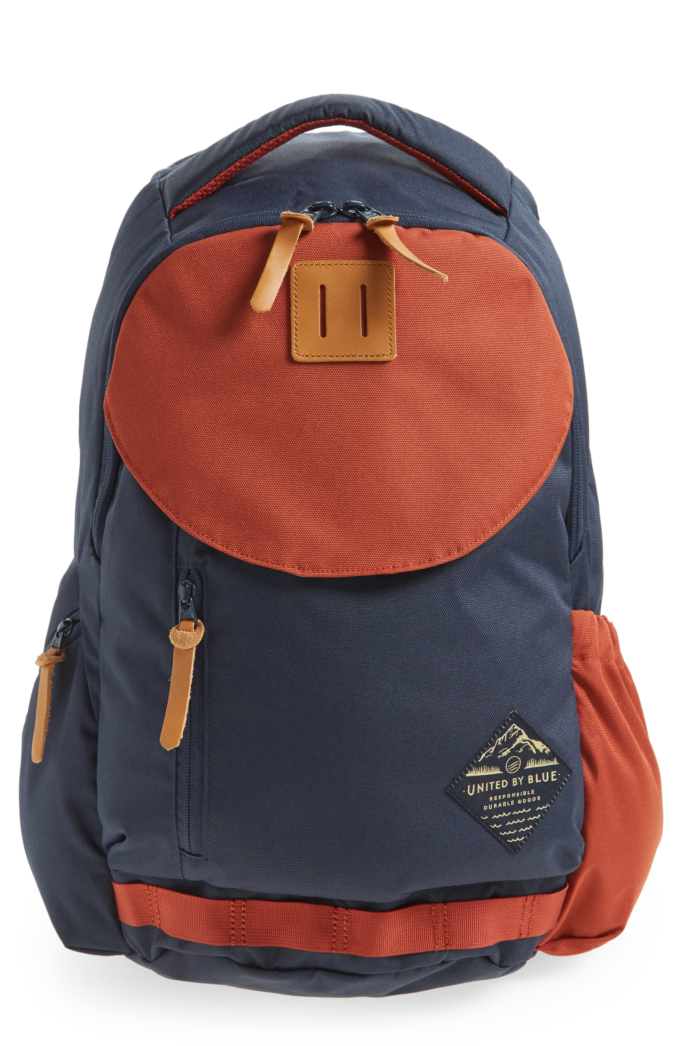 Rift Backpack,                             Main thumbnail 1, color,                             Navy/ Rust