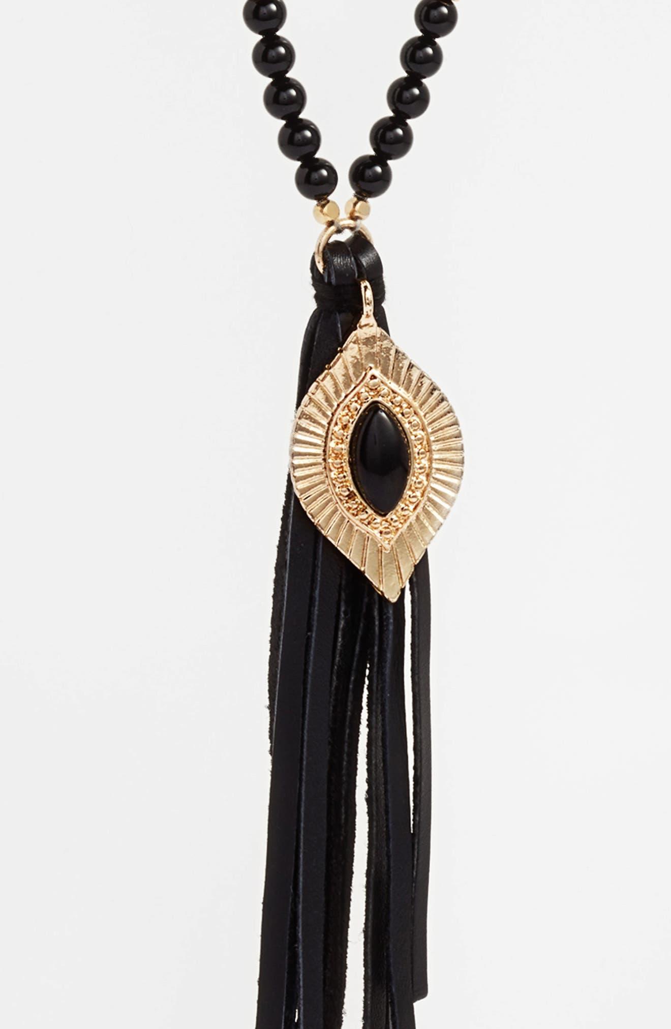 Alternate Image 2  - Ettika Beaded Pendant Necklace