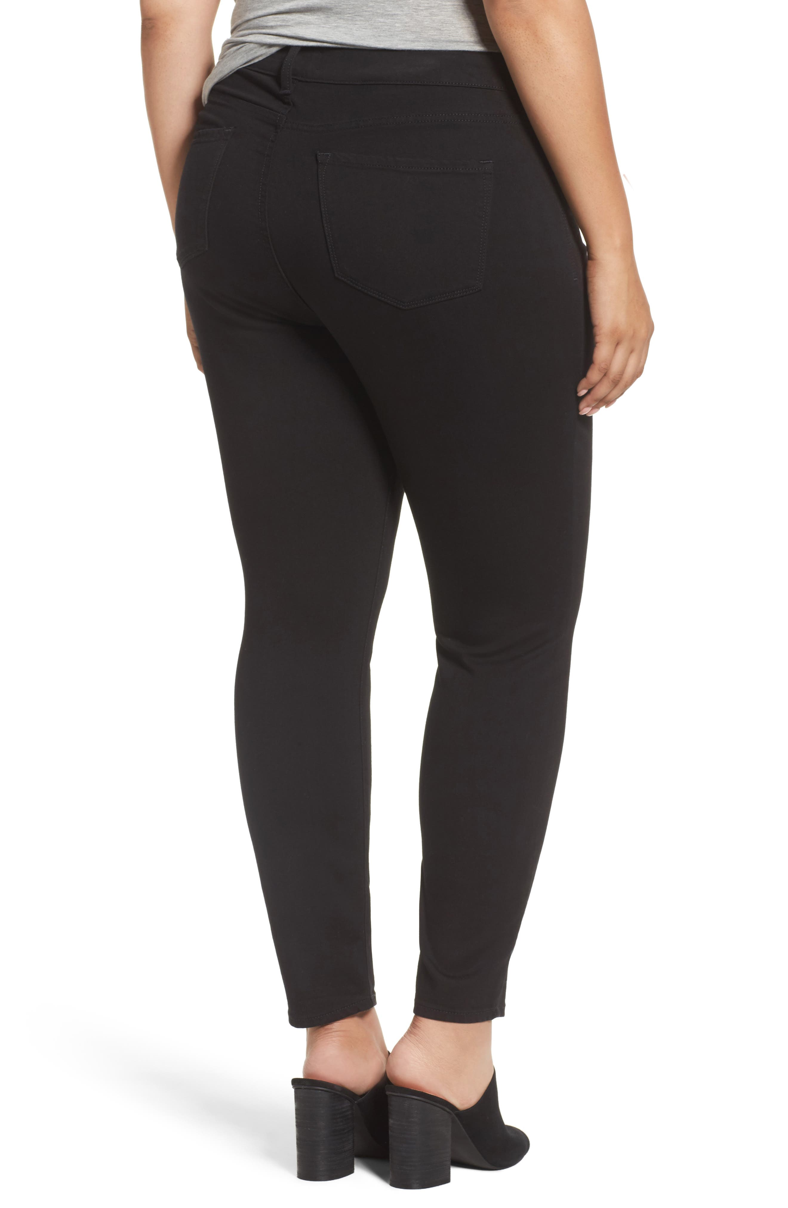 Ami Stretch Skinny Jeans,                             Alternate thumbnail 2, color,                             Black