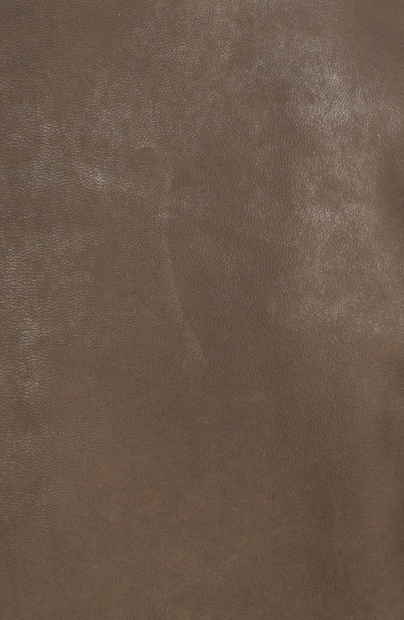Alternate Image 5  - Tahari Skylar Leather Moto Jacket