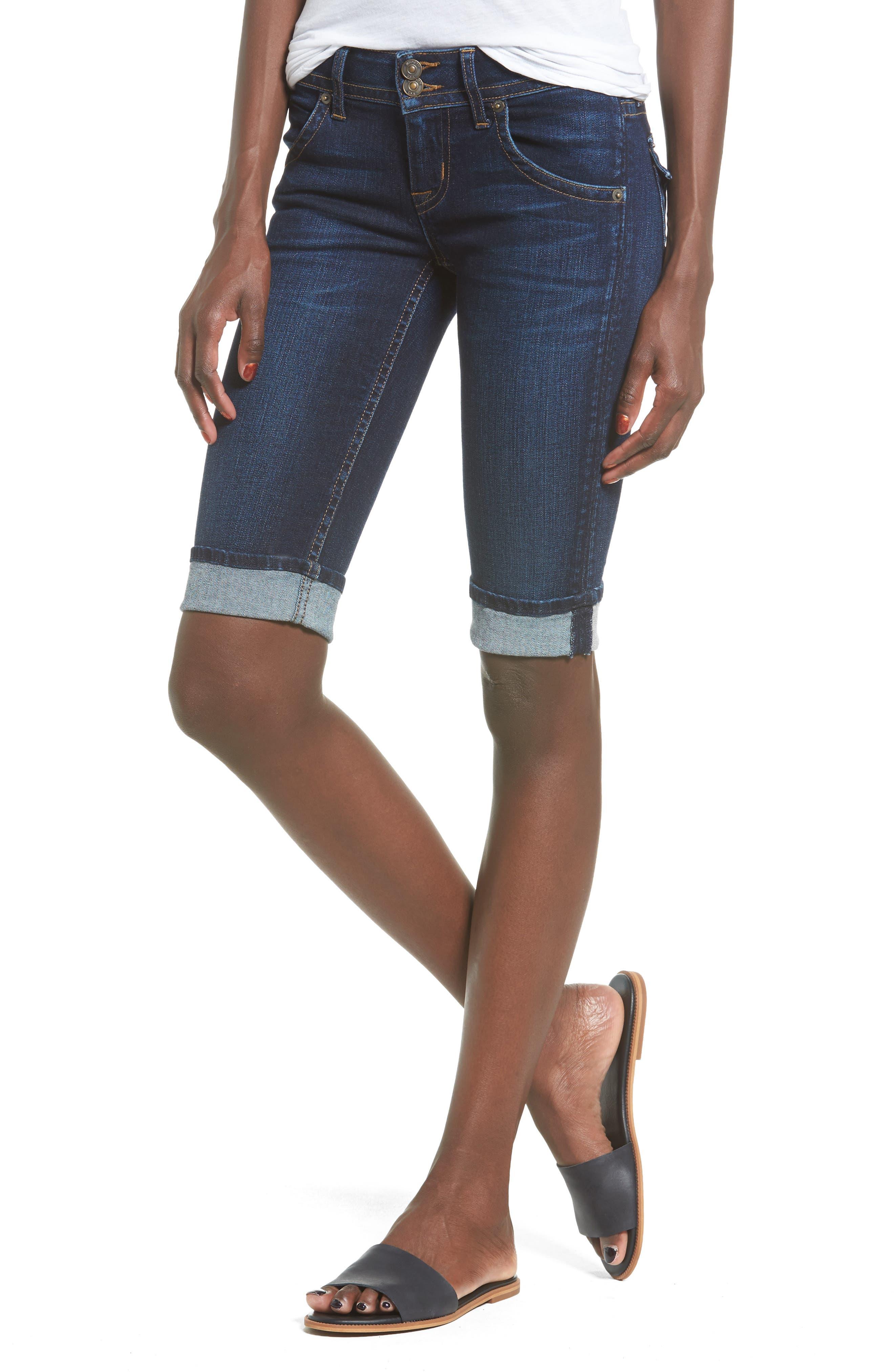 Hudson Jeans Palerme Rolled Knee Shorts (Urbanite)