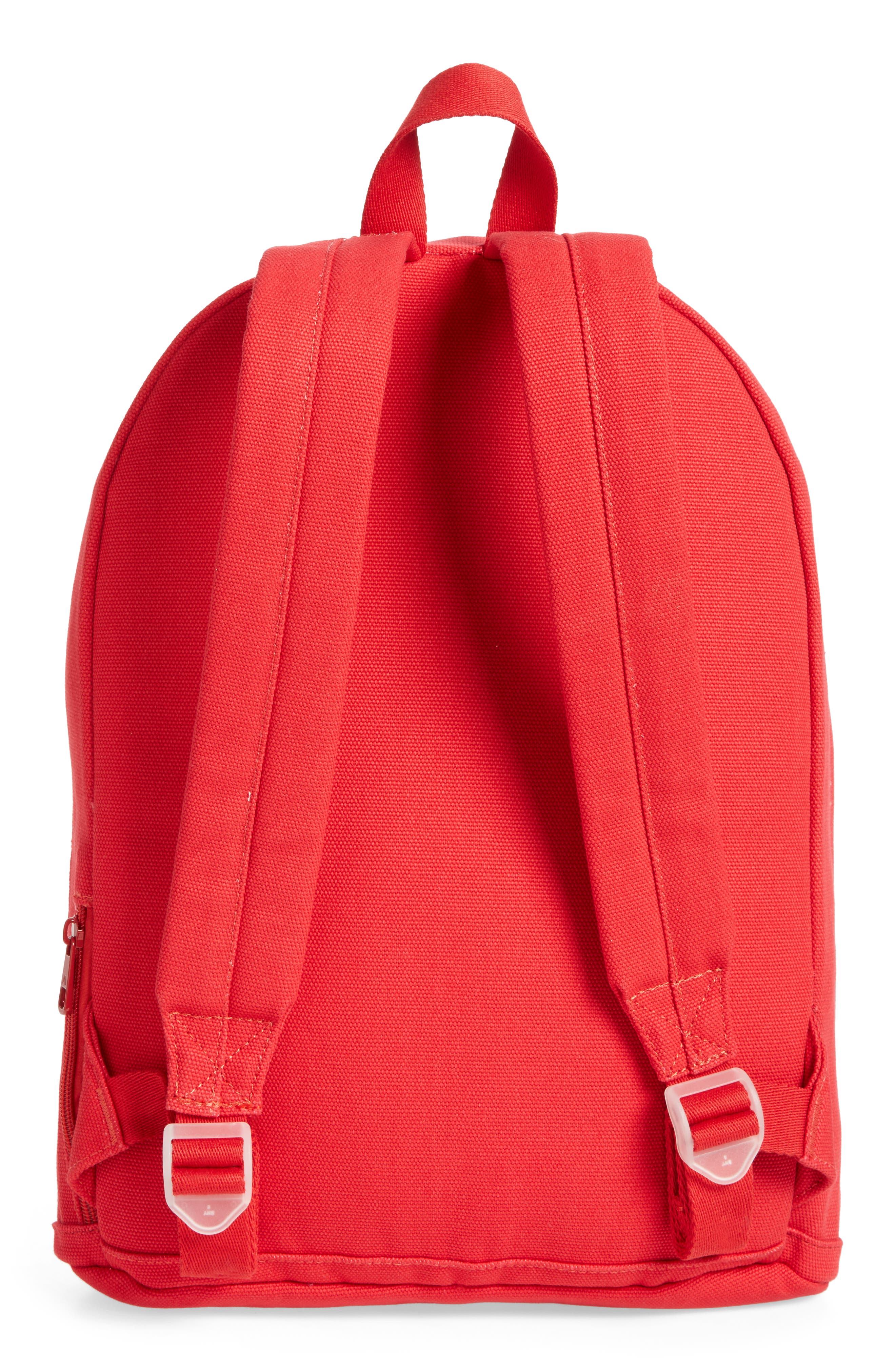 Slim Lorimer Water Resistant Canvas Backpack,                             Alternate thumbnail 3, color,                             Red
