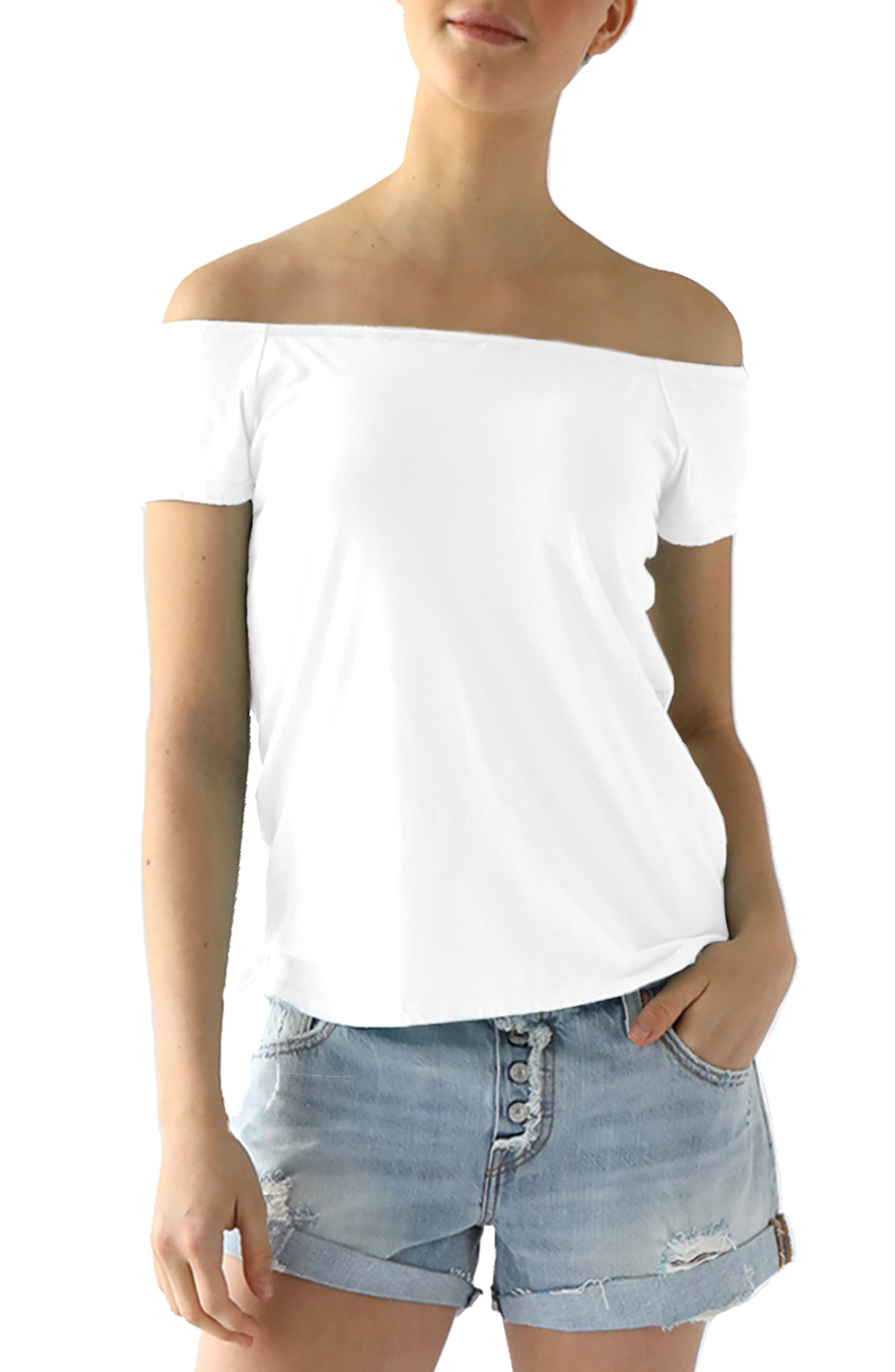Main Image - LAmade Imelda Tissue Jersey Off the Shoulder Tee