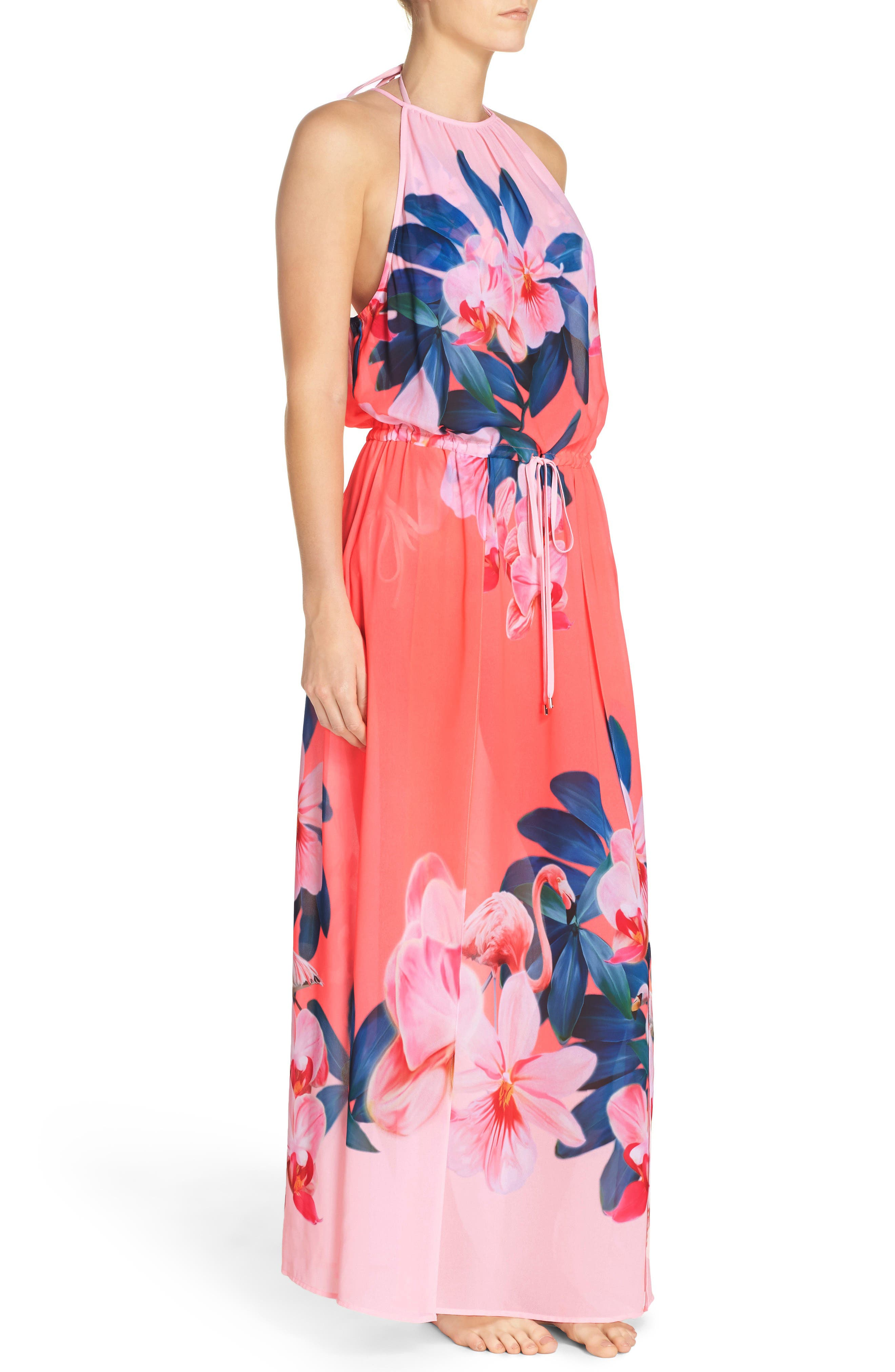 Alternate Image 3  - Ted Baker London Orchid Wonderland Cover-Up Maxi Dress