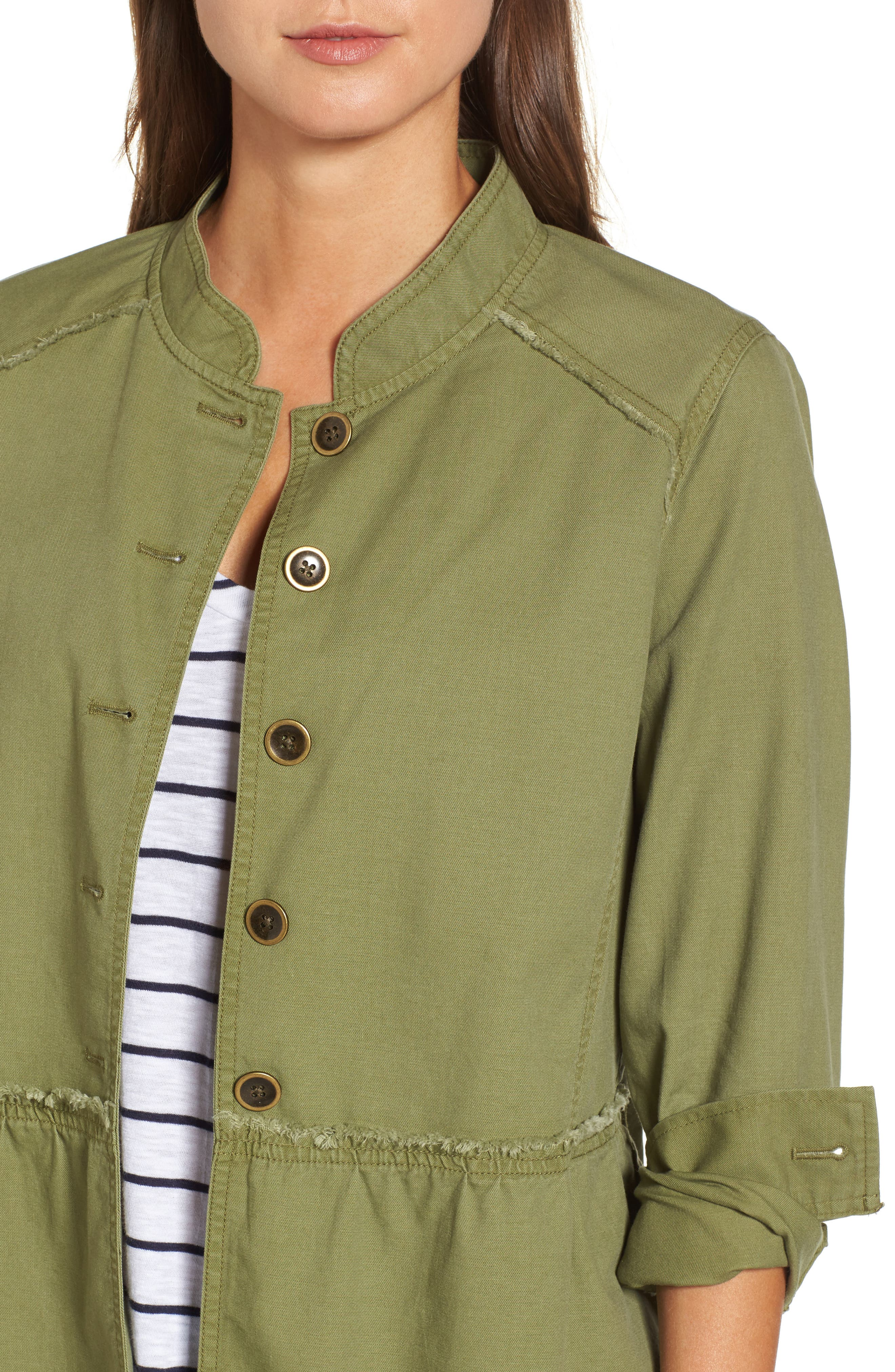 Alternate Image 5  - Caslon® Twill Peplum Jacket (Regular & Petite)