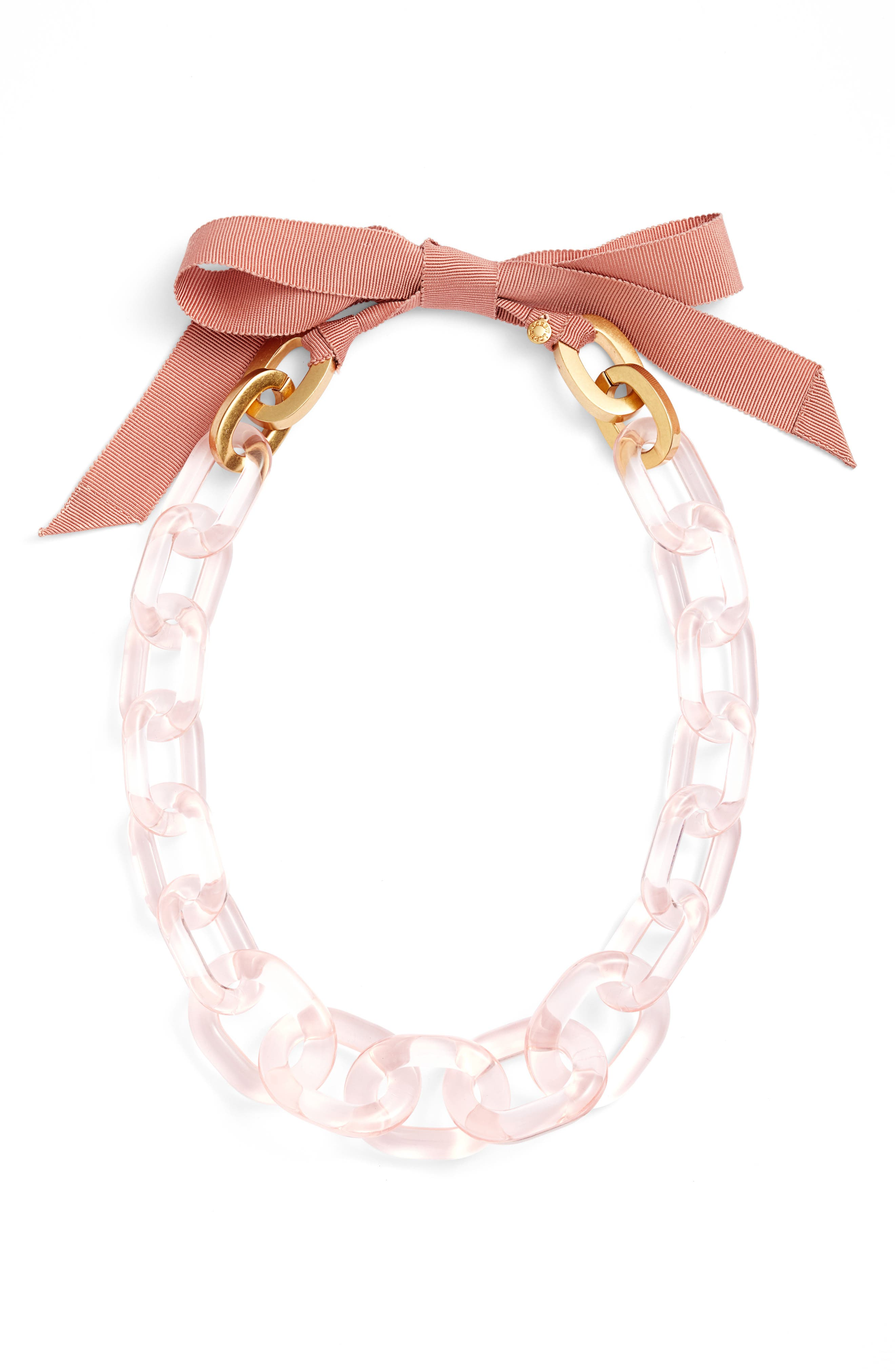 Lucite<sup>®</sup> Link Necklace,                         Main,                         color, Pink Blush