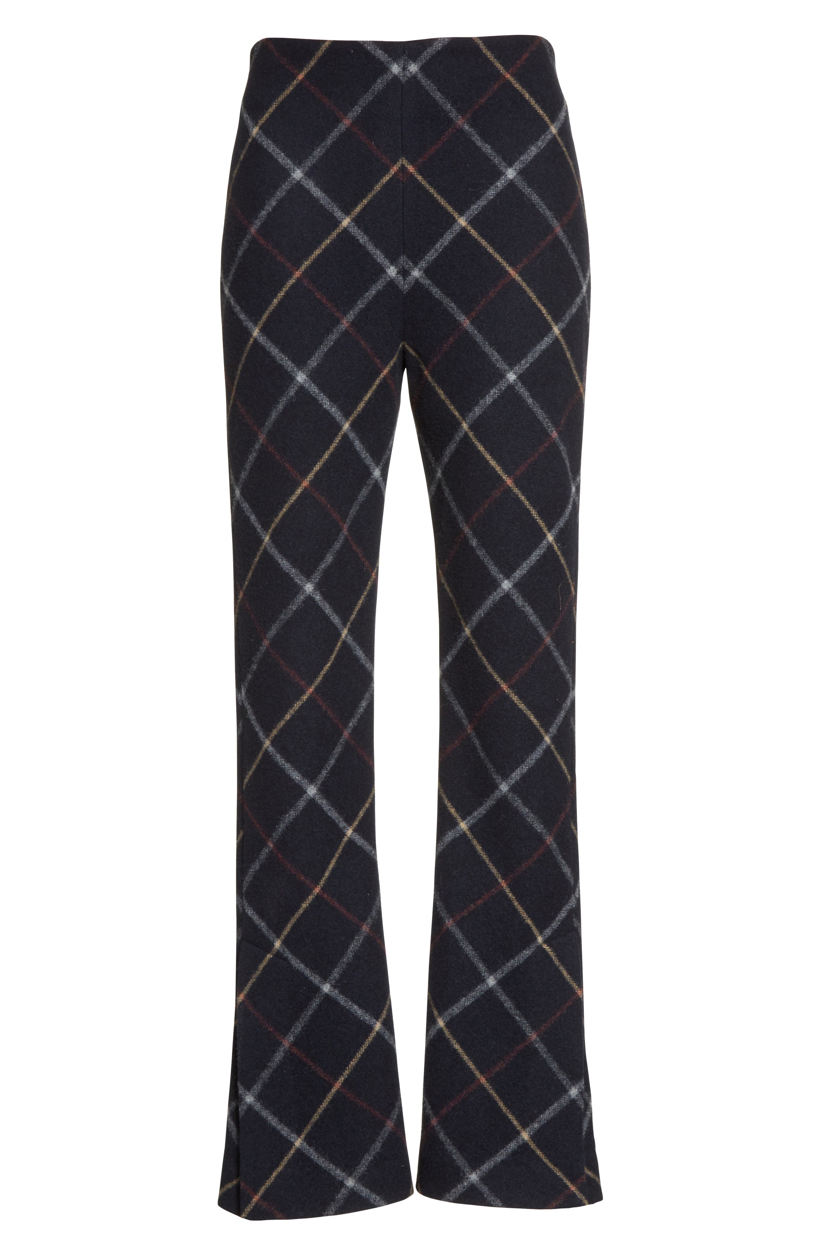 Fitted Crop Flare Pants,                             Alternate thumbnail 6, color,                             Navy