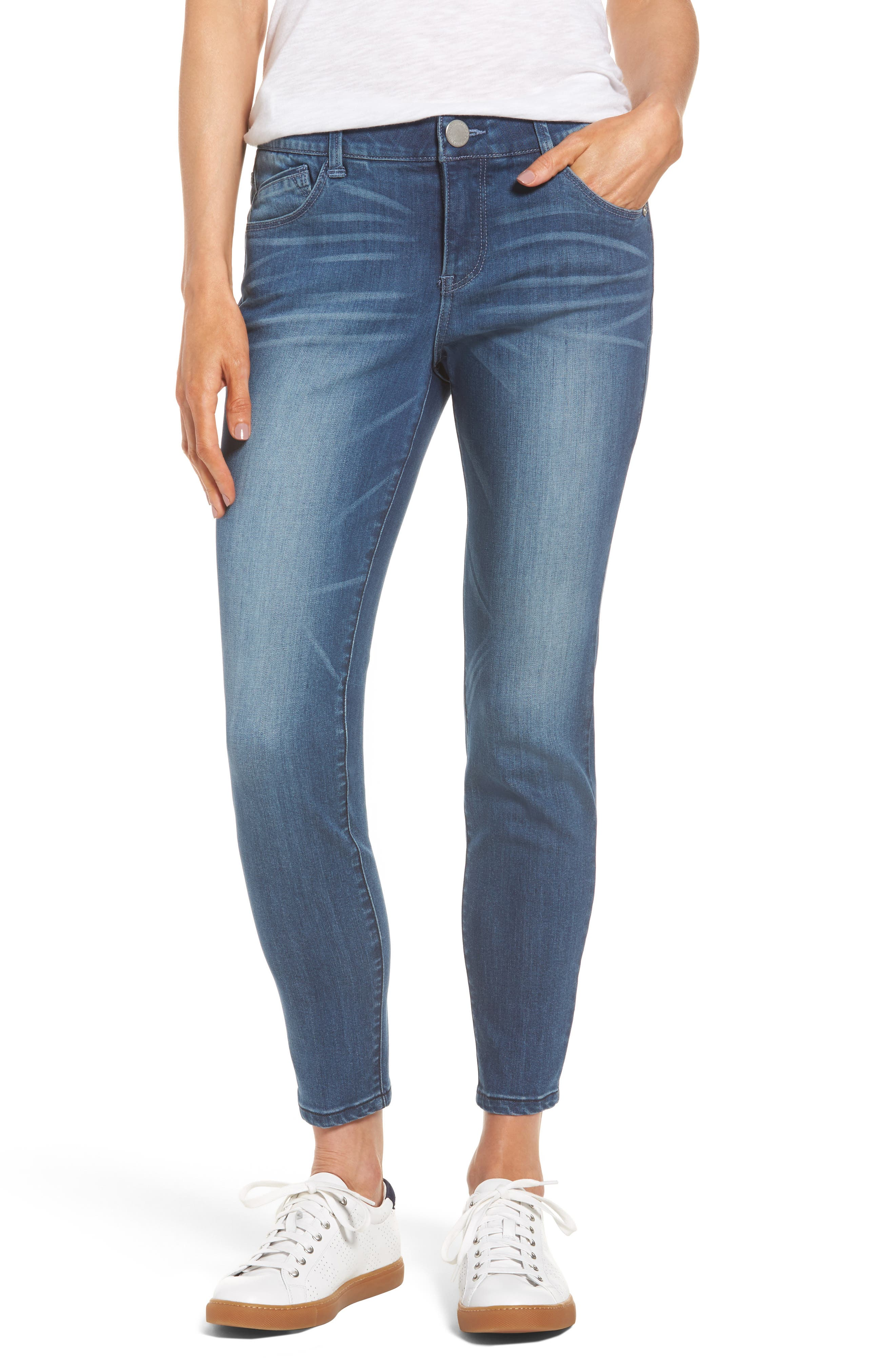 Alternate Image 1 Selected - Wit & Wisdom Ab-solution Stretch Ankle Skinny Jeans (Regular & Petite) (Nordstrom Exclusive)