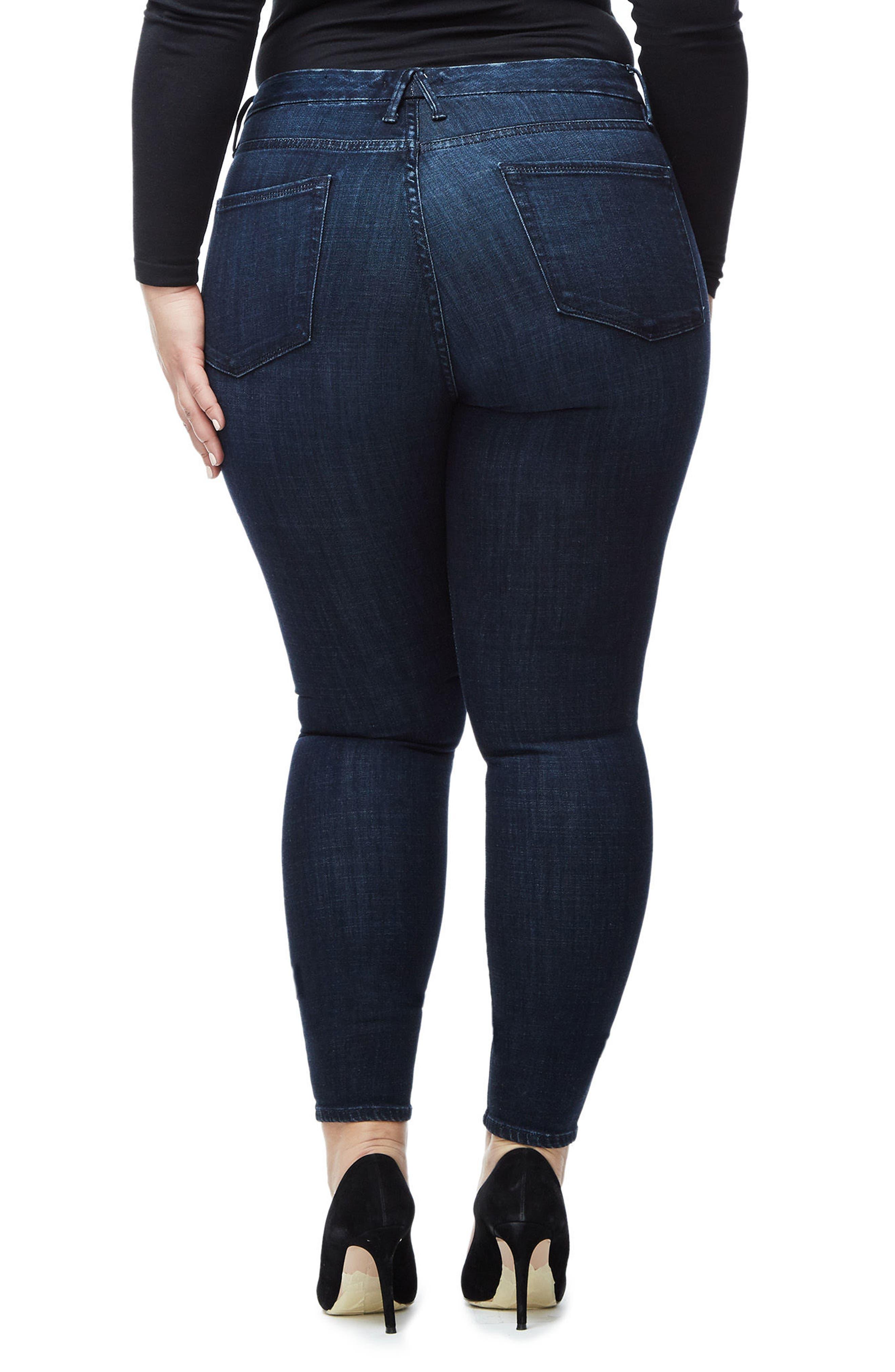 Good Waist High Waist Crop Skinny Jeans,                             Alternate thumbnail 5, color,                             Blue025