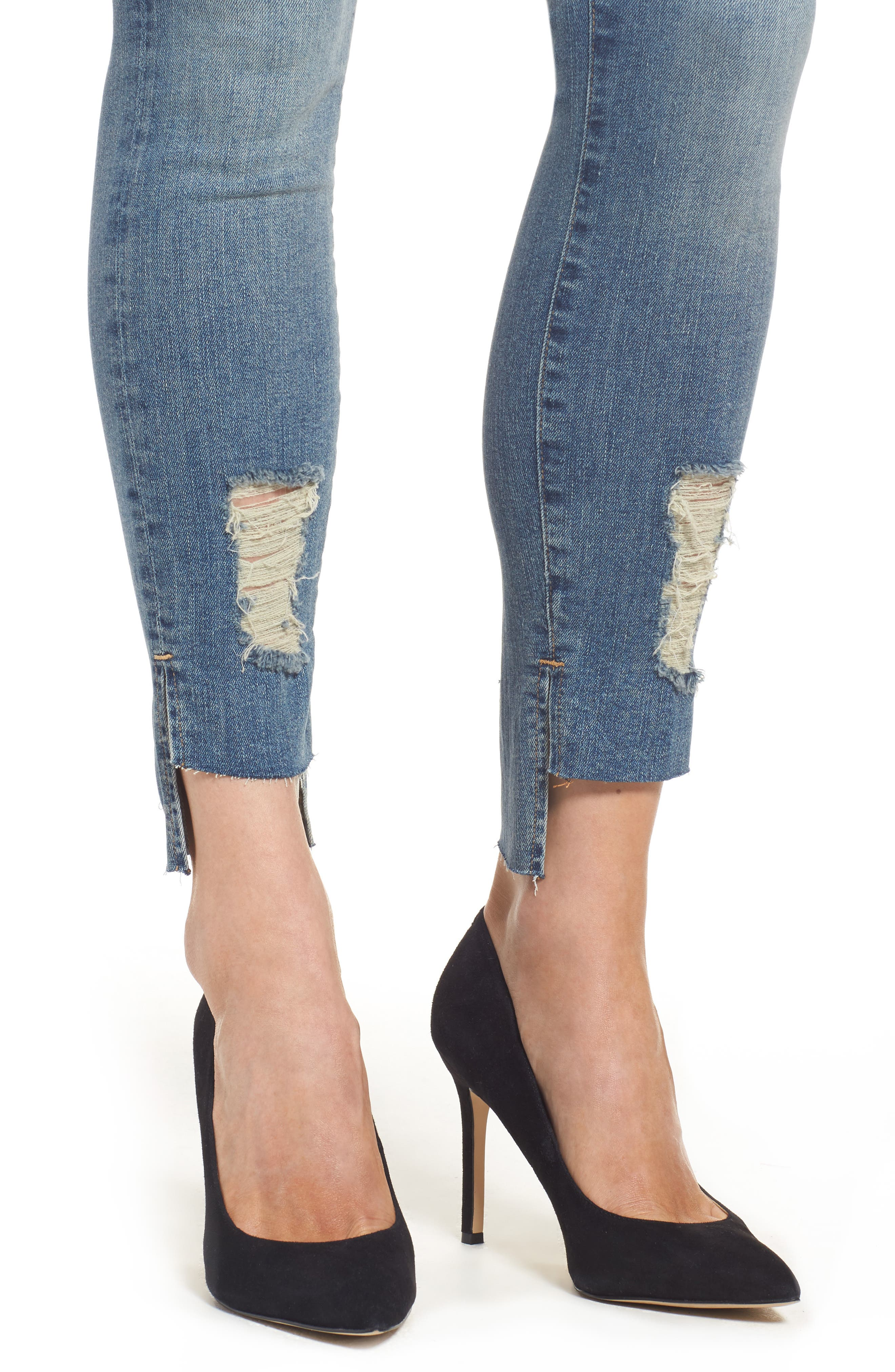 Alternate Image 4  - Good American Good Legs High Waist Skinny Jeans (Blue 082) (Extended Sizes)