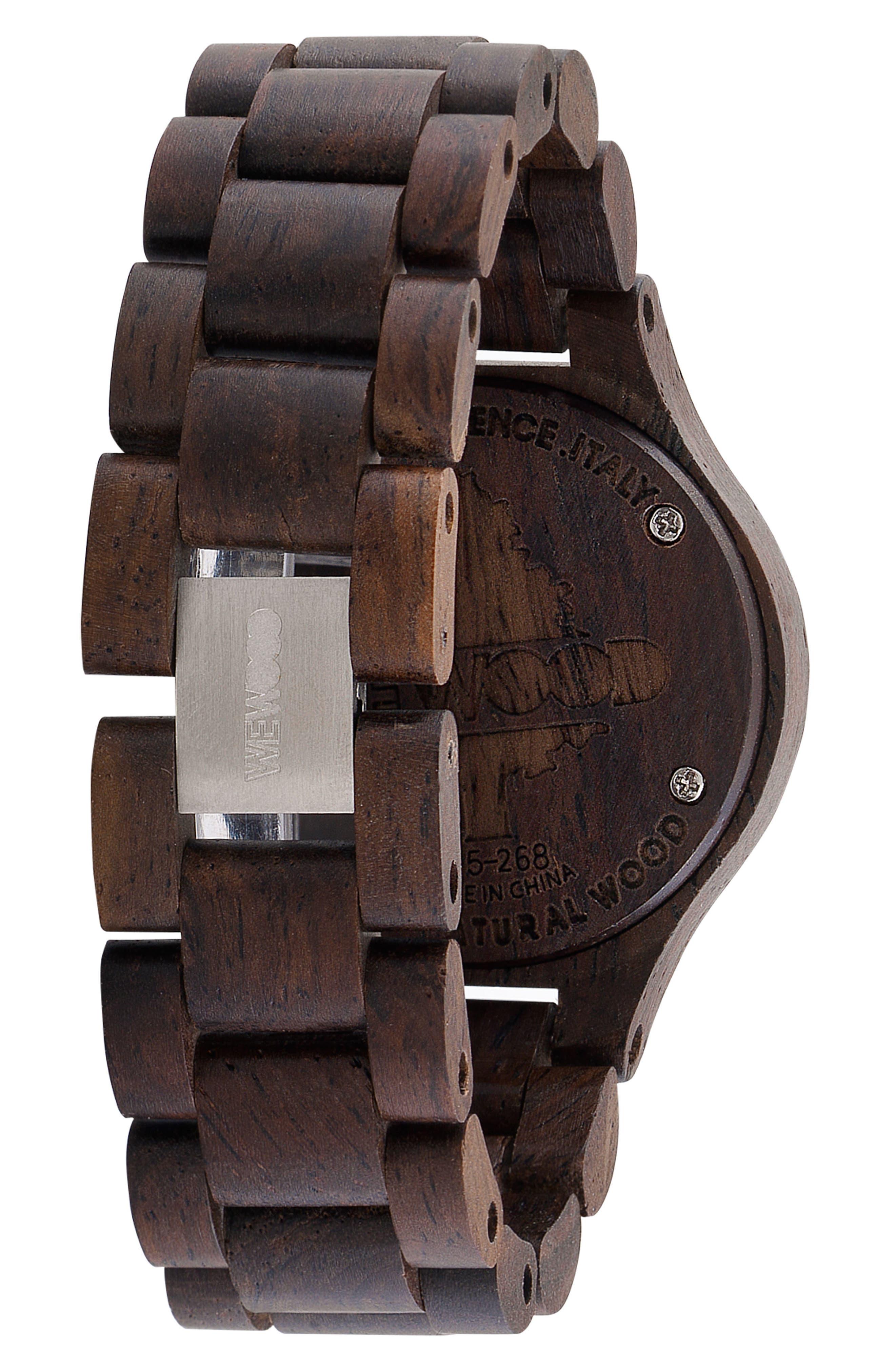 Antea Wood Bracelet Watch, 36mm,                             Alternate thumbnail 2, color,                             Brown