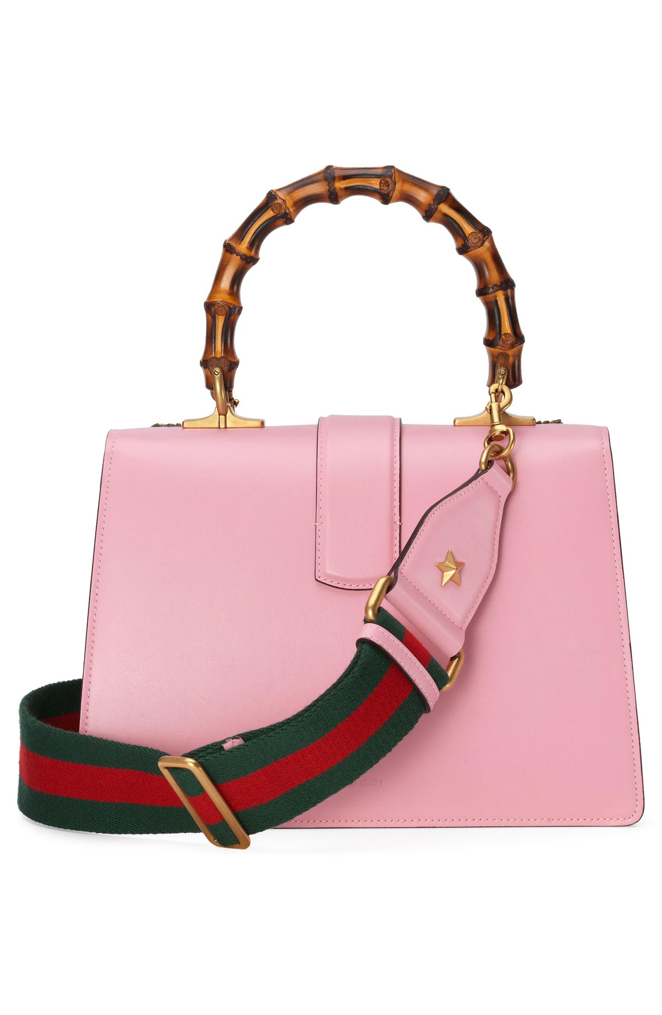 Small Dionysus Top Handle Leather Shoulder Bag,                             Alternate thumbnail 2, color,                             Sugar Pink/Multi