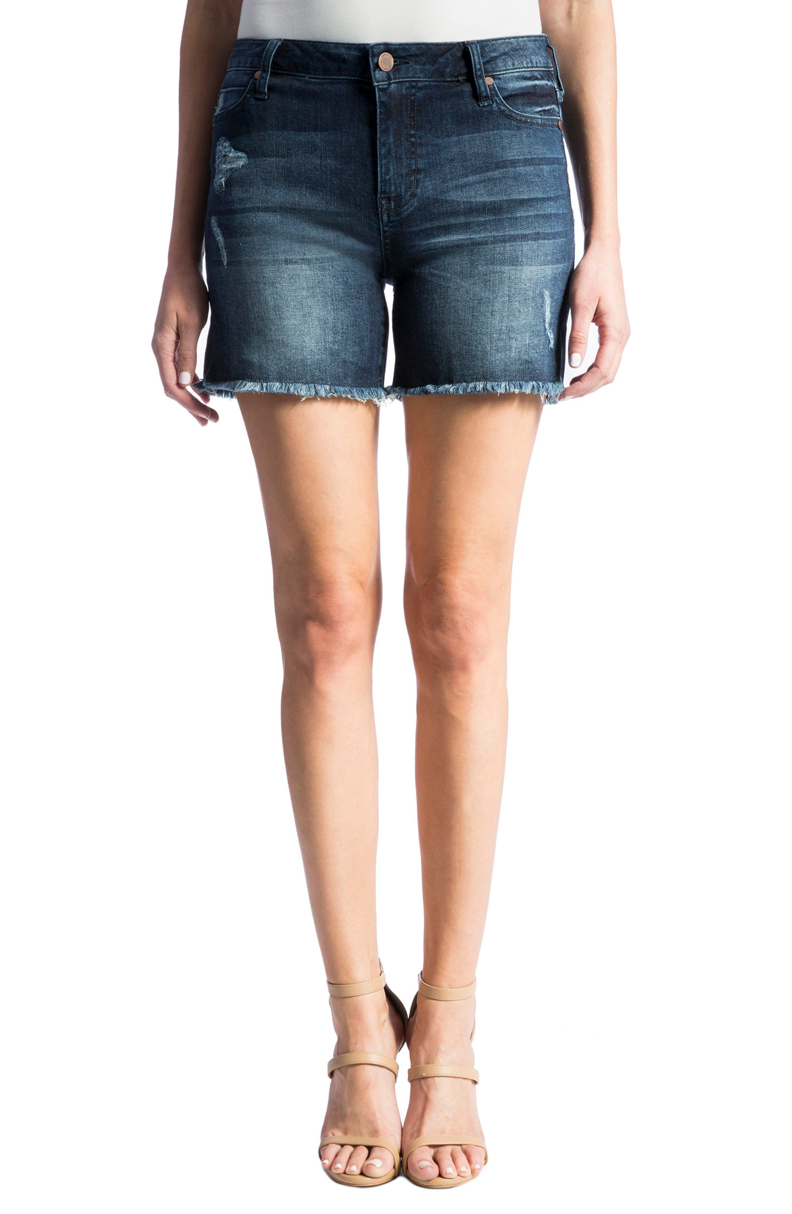 Liverpool Jeans Company Vickie Frayed Denim Shorts