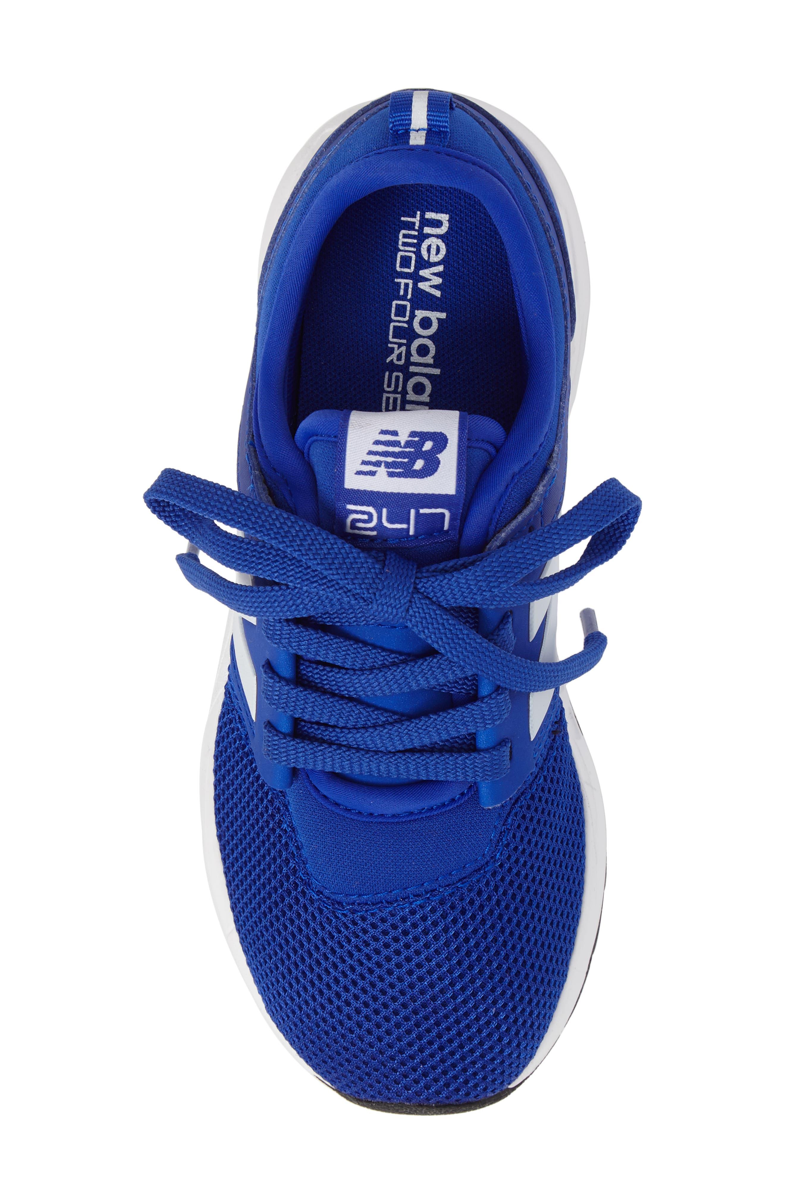 247 Core Sneaker,                             Alternate thumbnail 5, color,                             Blue/ White