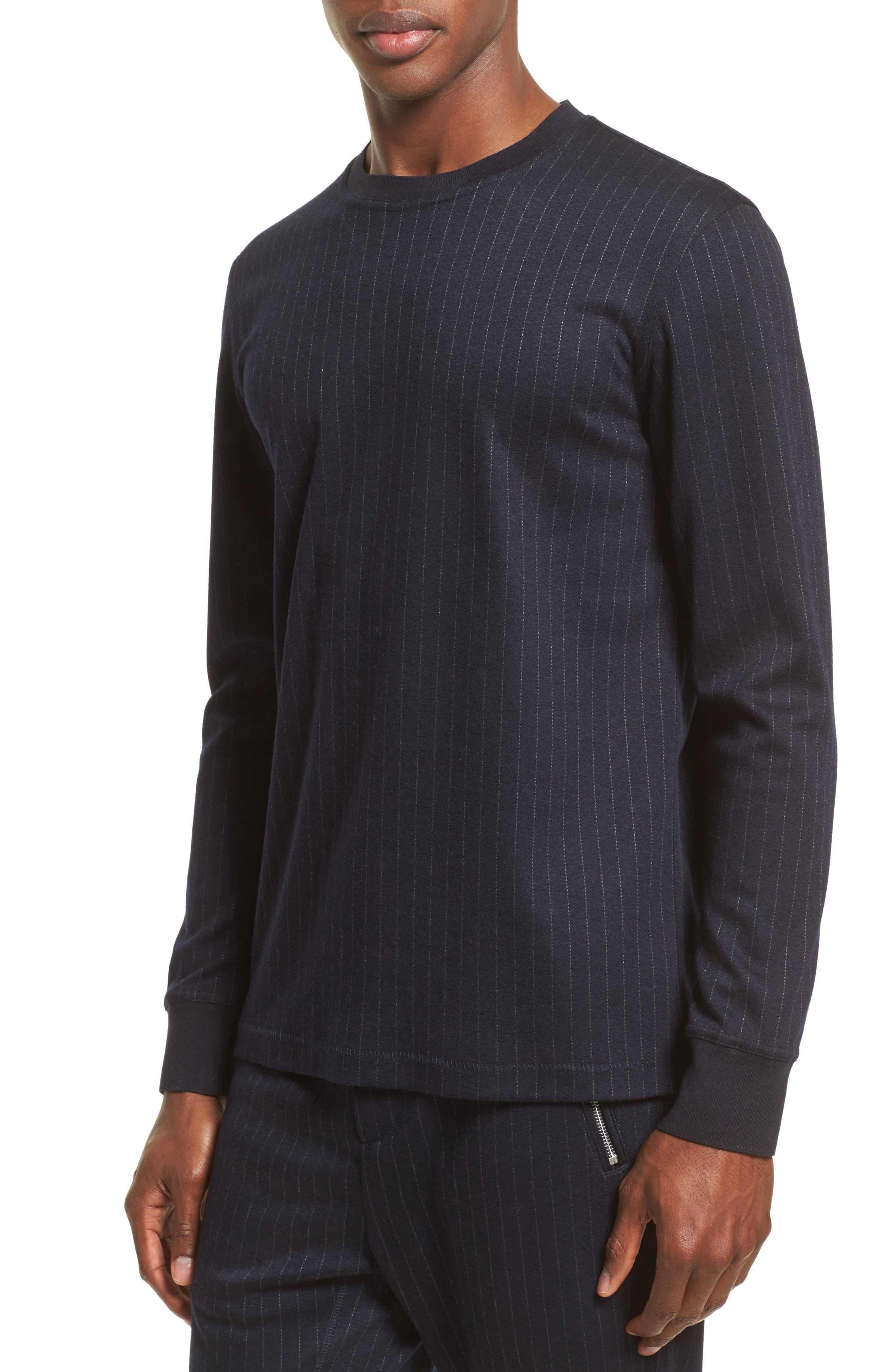 Stripe Long Sleeve T-Shirt,                         Main,                         color, Navy/White