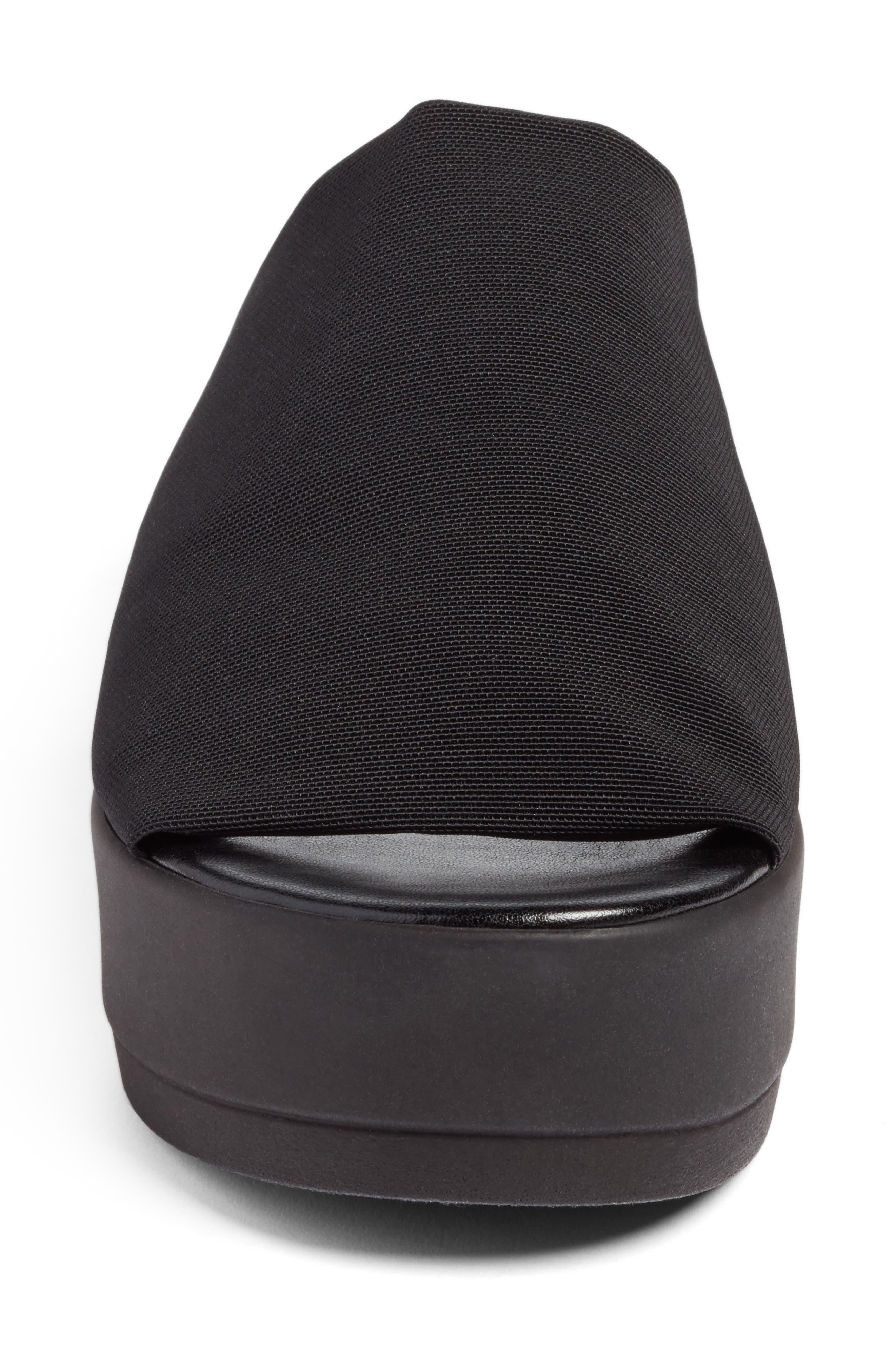Slinky Platform Sandal,                             Alternate thumbnail 4, color,                             Black