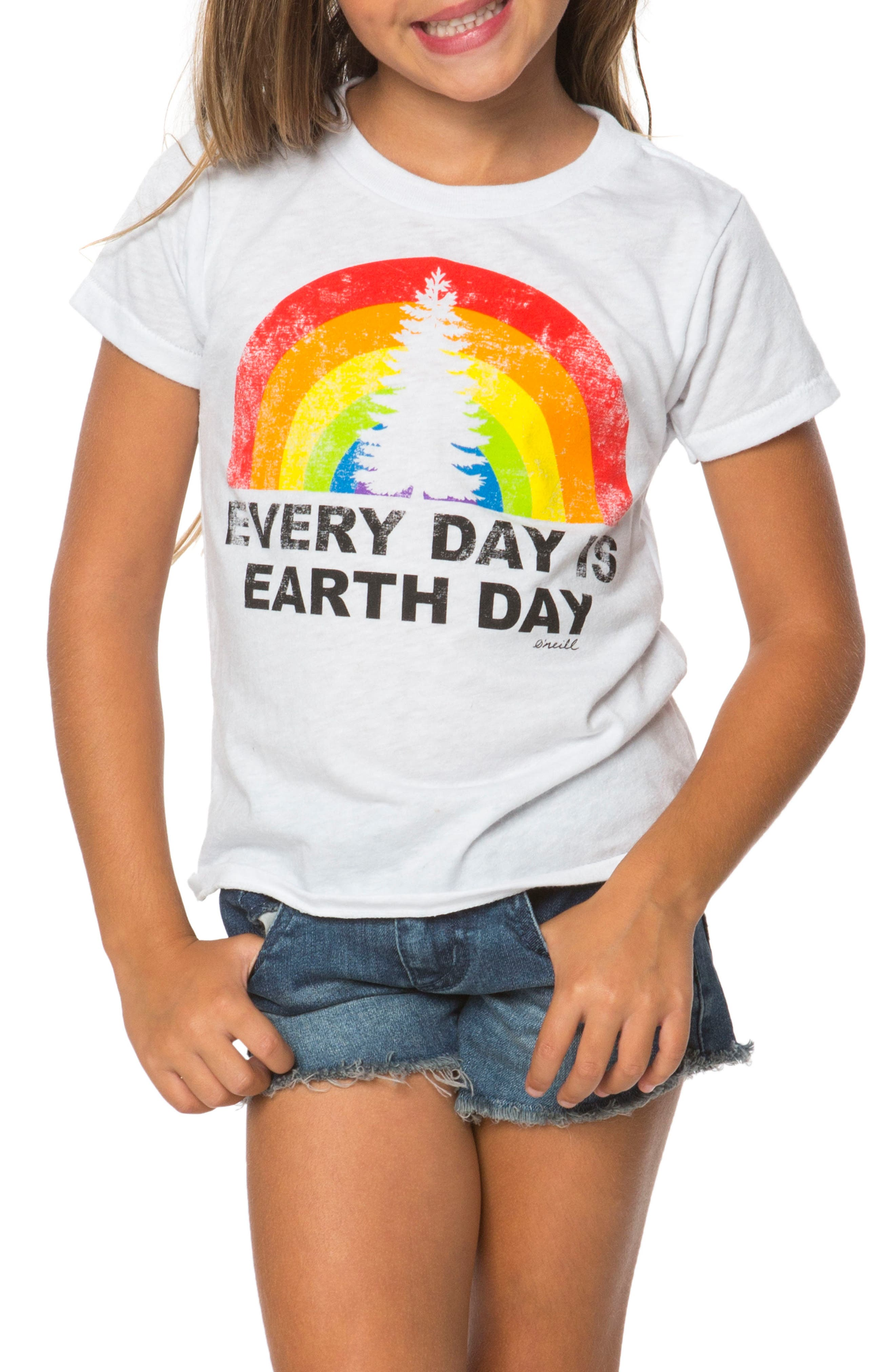 Earth Day Graphic Tee,                             Main thumbnail 1, color,                             White