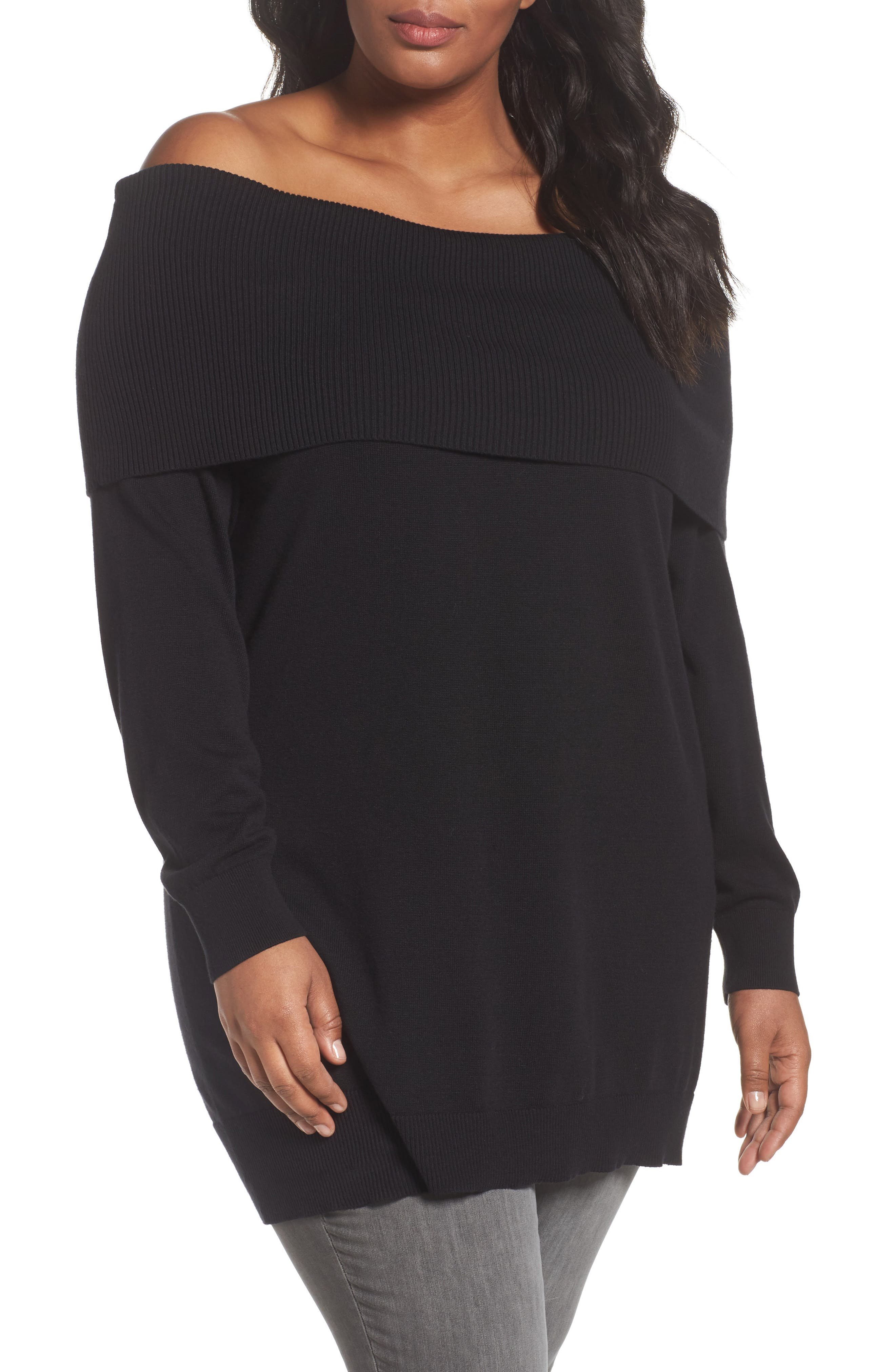 Sejour Convertible Neck Sweater (Plus Size)