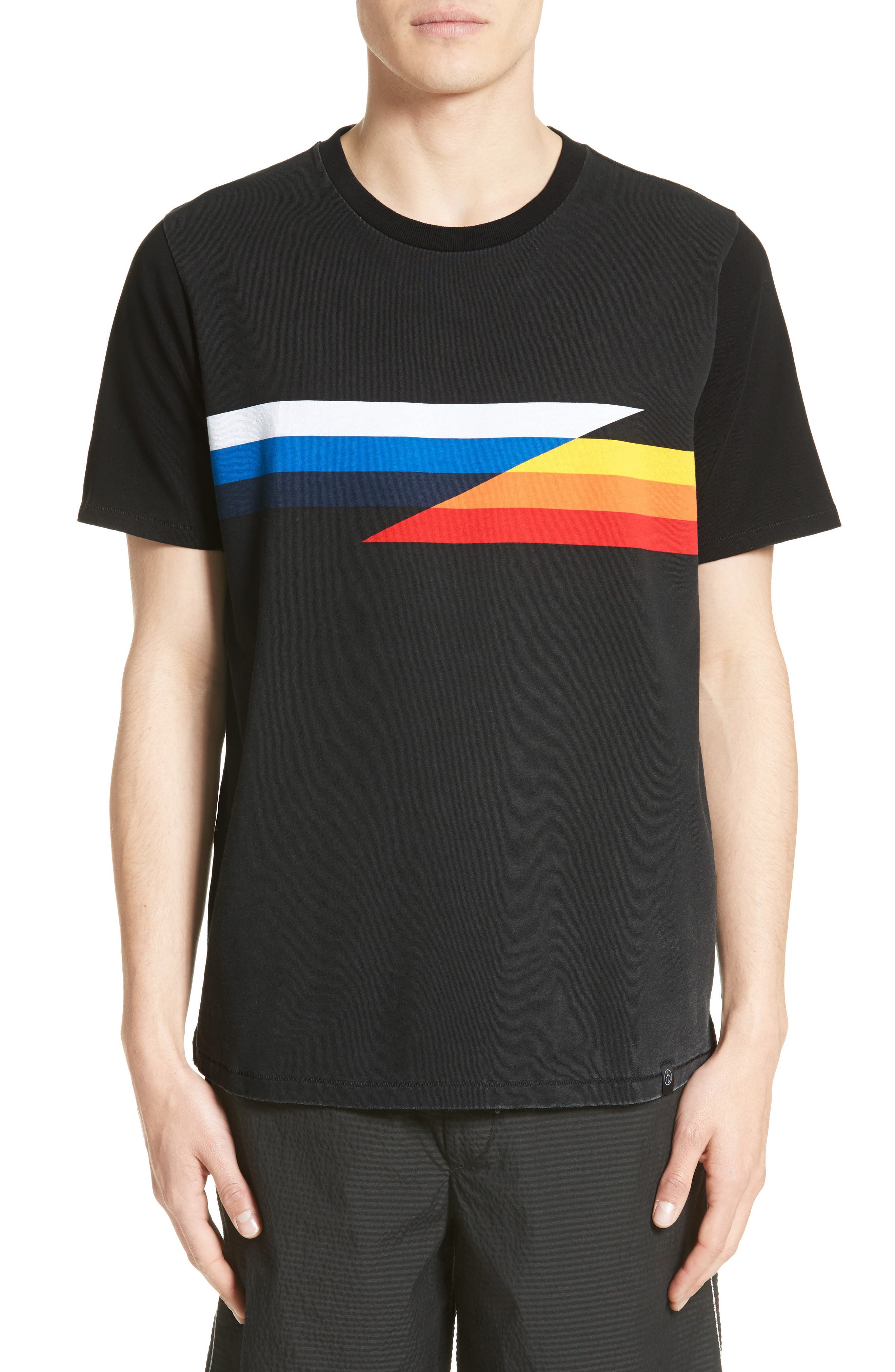 rag & bone Glitch Stripe T-Shirt
