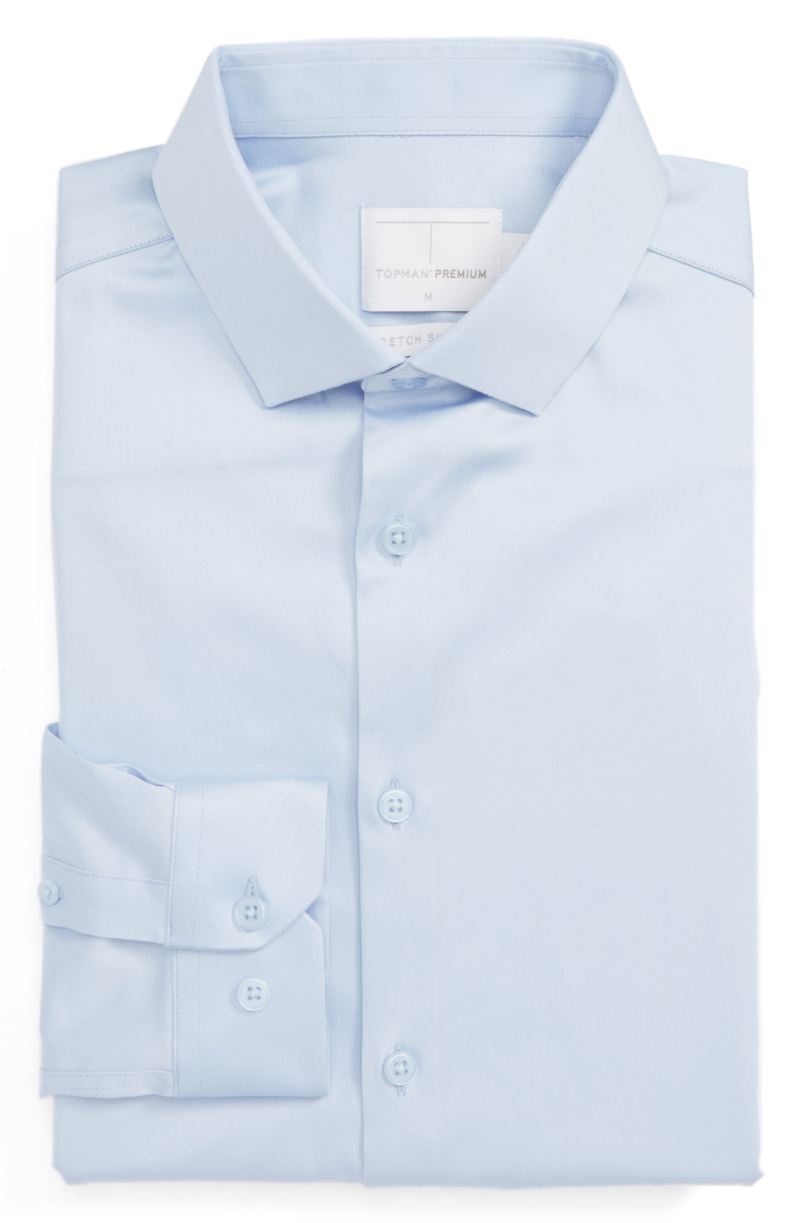 Alternate Image 1 Selected - Topman Stretch Cotton Shirt