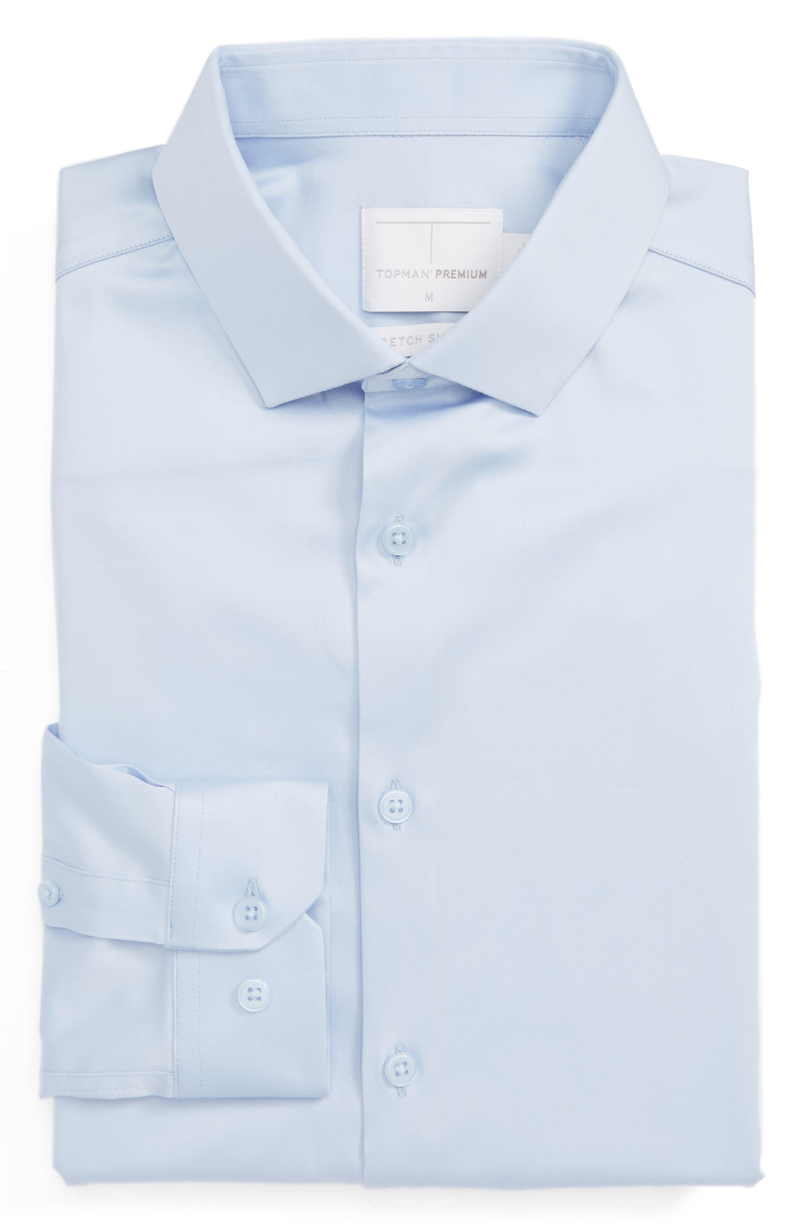 Main Image - Topman Stretch Cotton Shirt