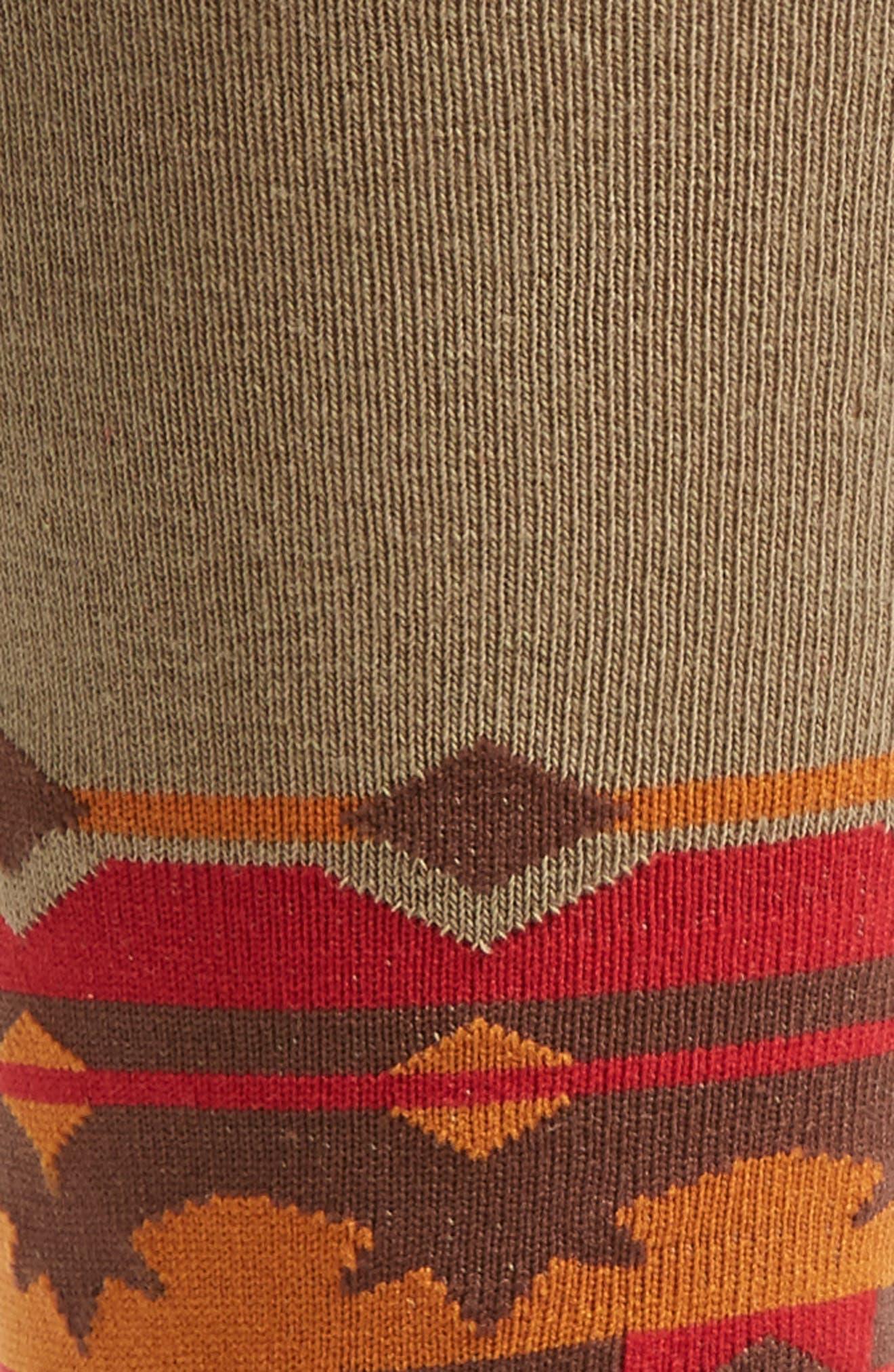 Sinaloa Socks,                             Alternate thumbnail 2, color,                             Red/ Olive