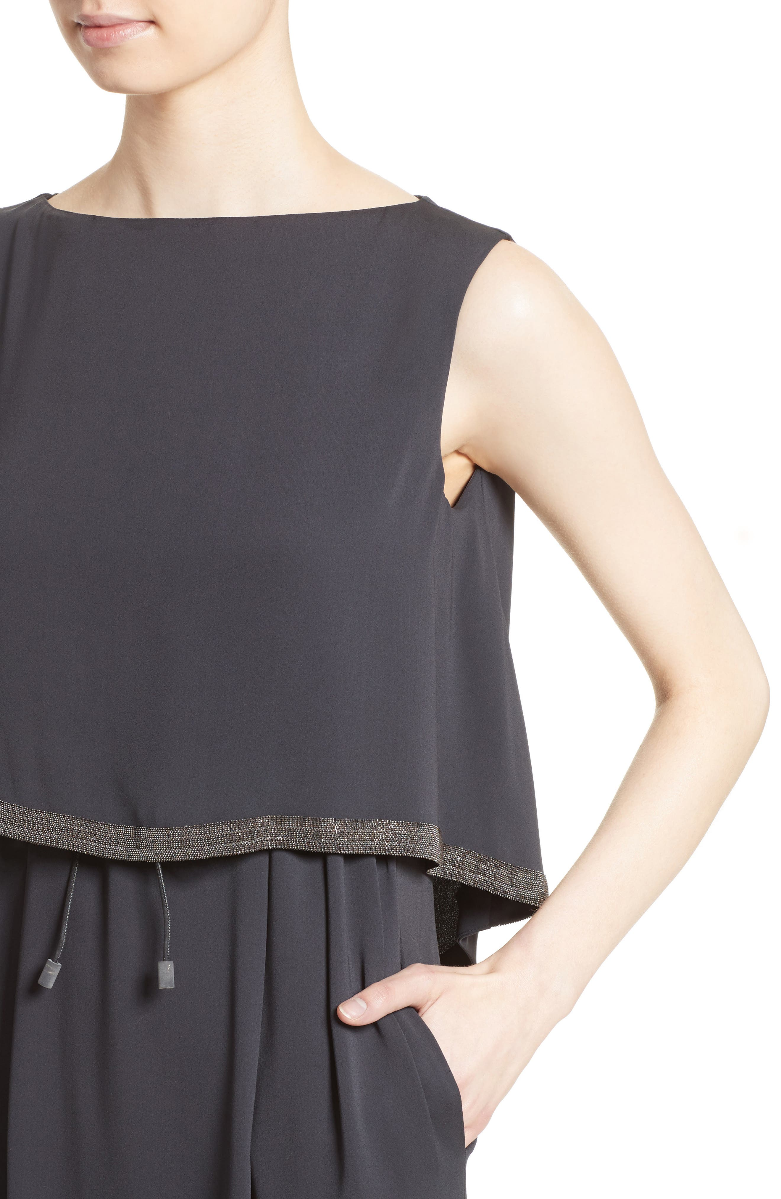 Alternate Image 6  - Fabiana Filippi Embellished Silk Drawstring Dress