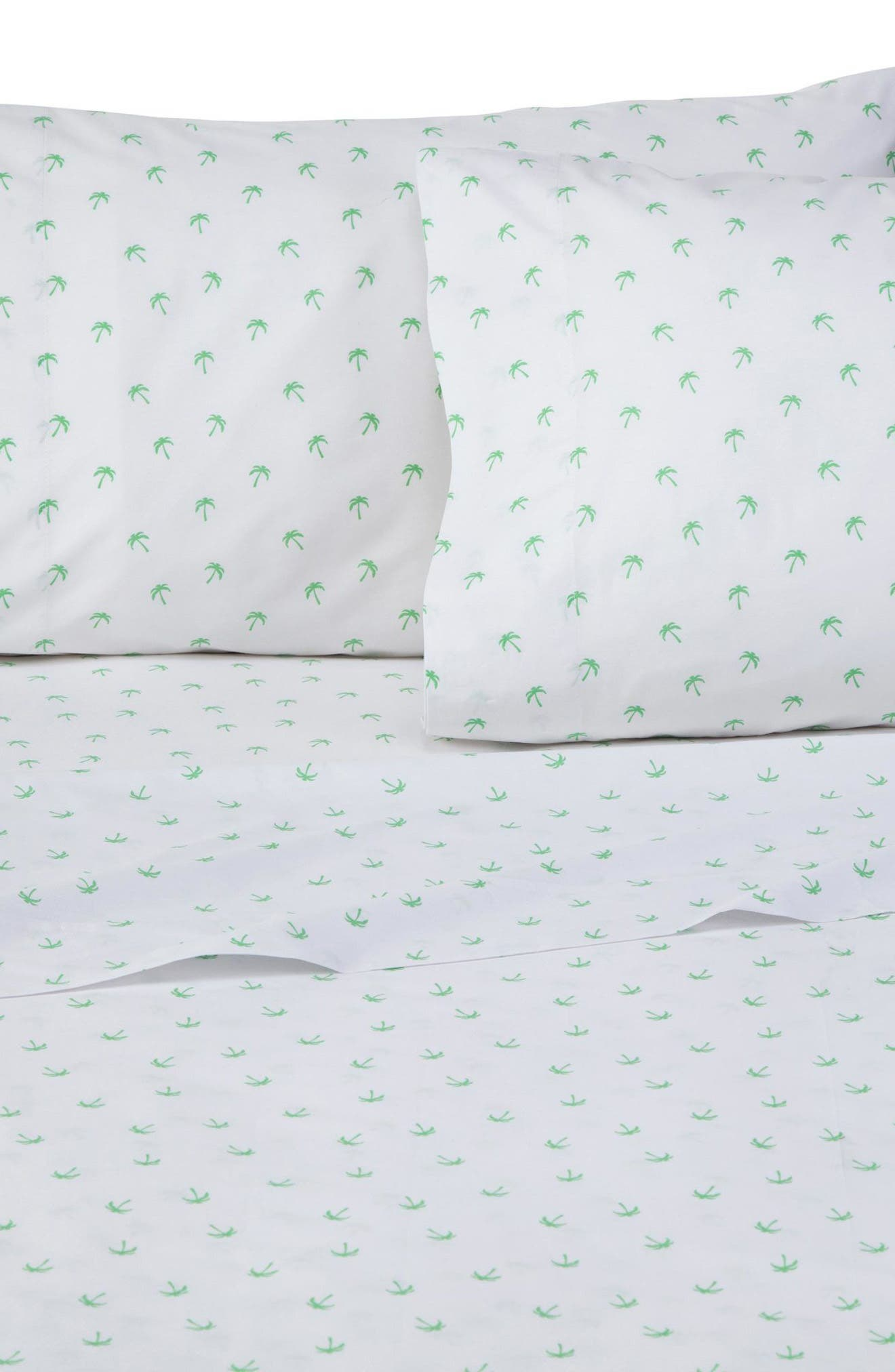 Palms Pillowcases,                             Main thumbnail 1, color,                             White/ Khaki