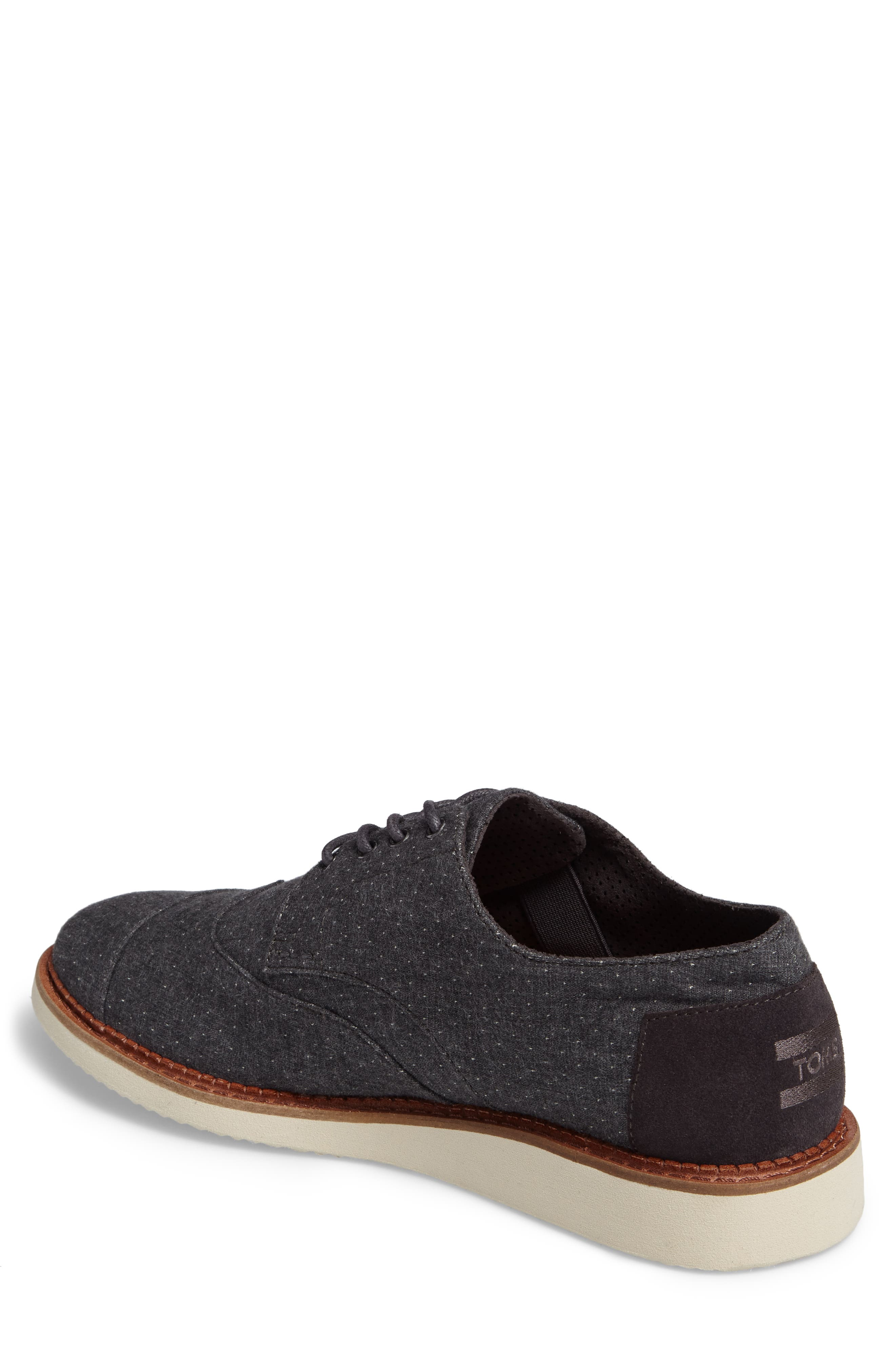 'Classic Brogue' Cotton Twill Derby,                             Alternate thumbnail 2, color,                             Grey