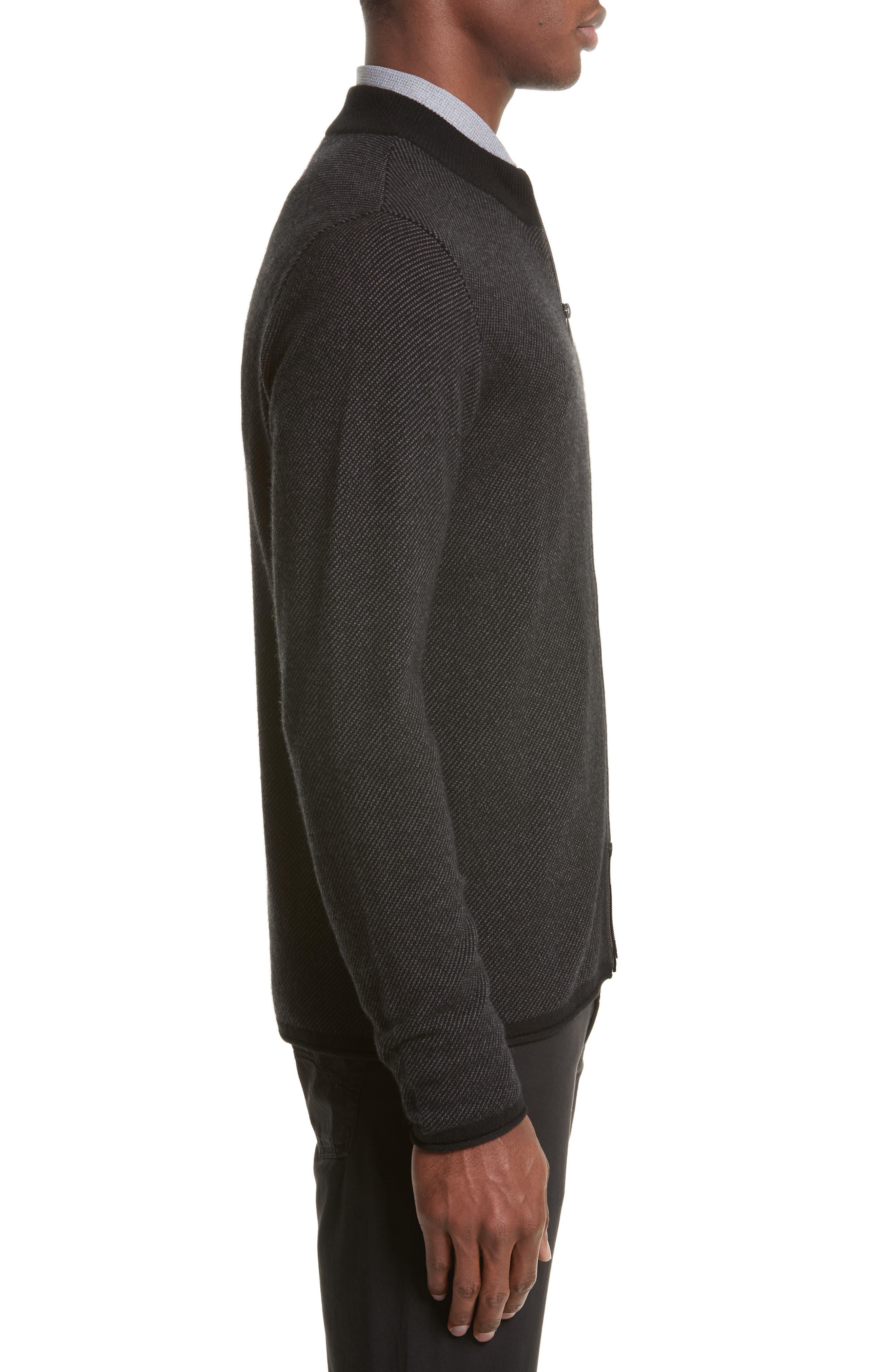 Alternate Image 3  - Armani Collezioni Cashmere Zip Cardigan