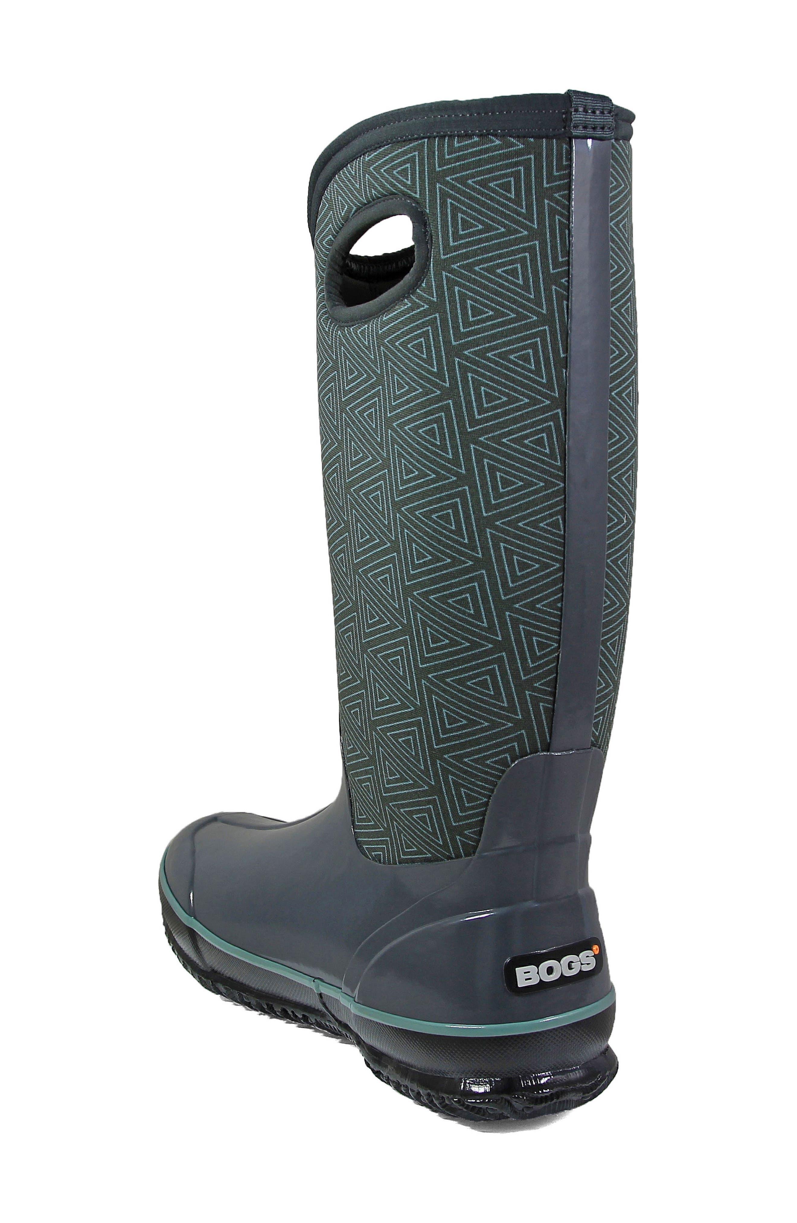 Classic Triangles Waterproof Subzero Insulated Boot,                             Alternate thumbnail 2, color,                             Dark Grey Multi