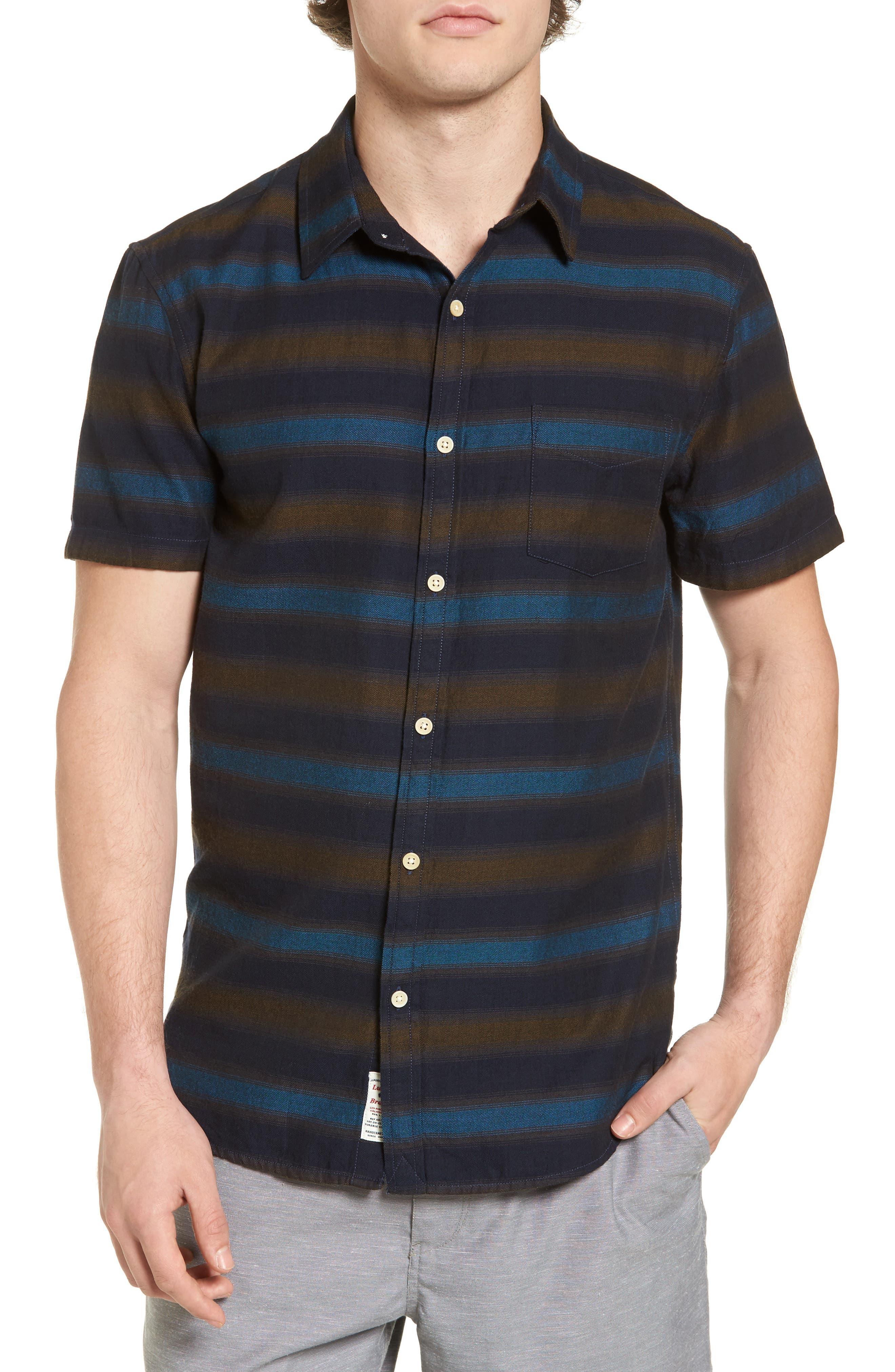 Lucky Brand Blue Stripe Woven Shirt