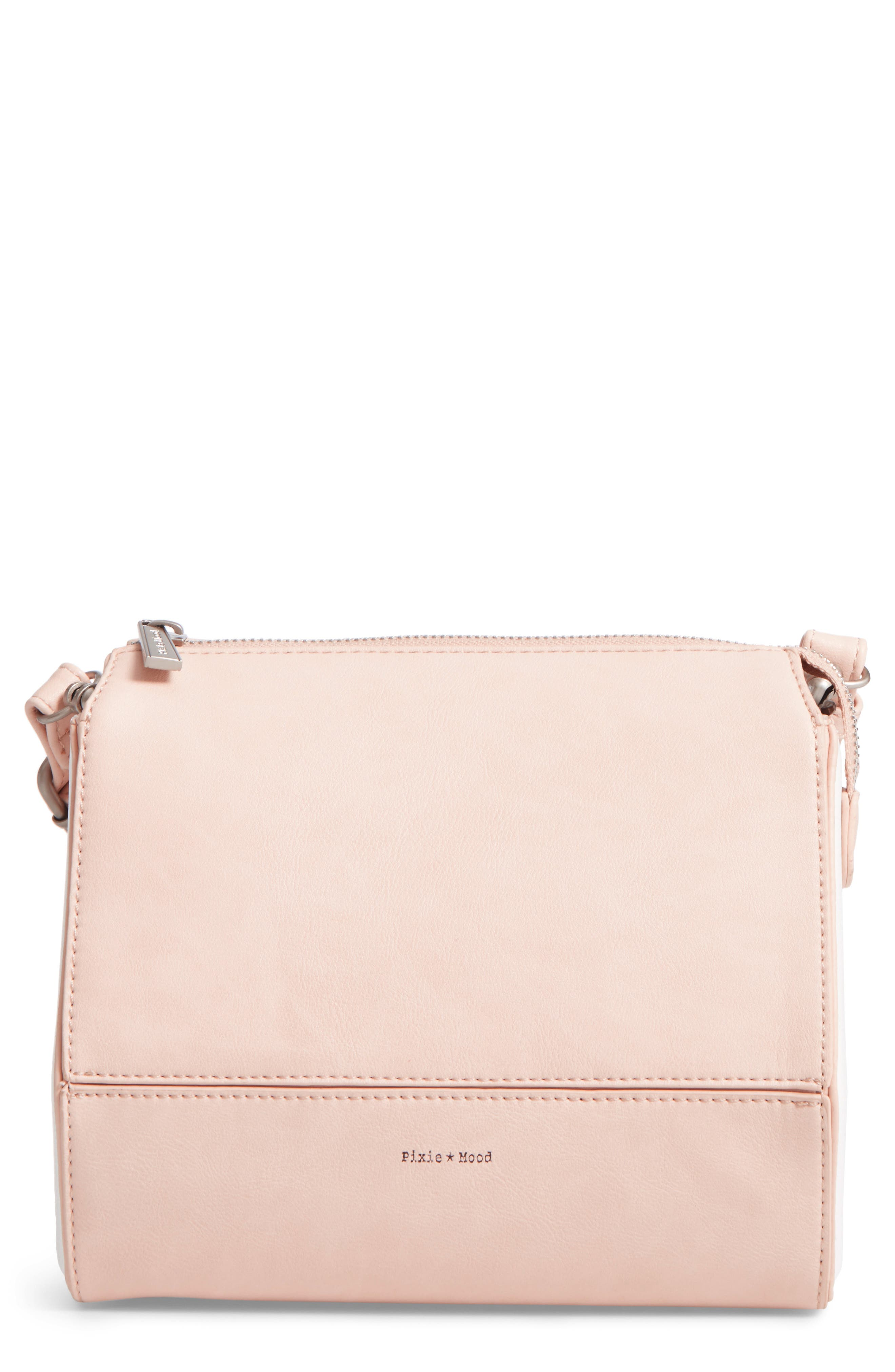 Alternate Image 1 Selected - Pixie Mood Faux Leather Crossbody Bag