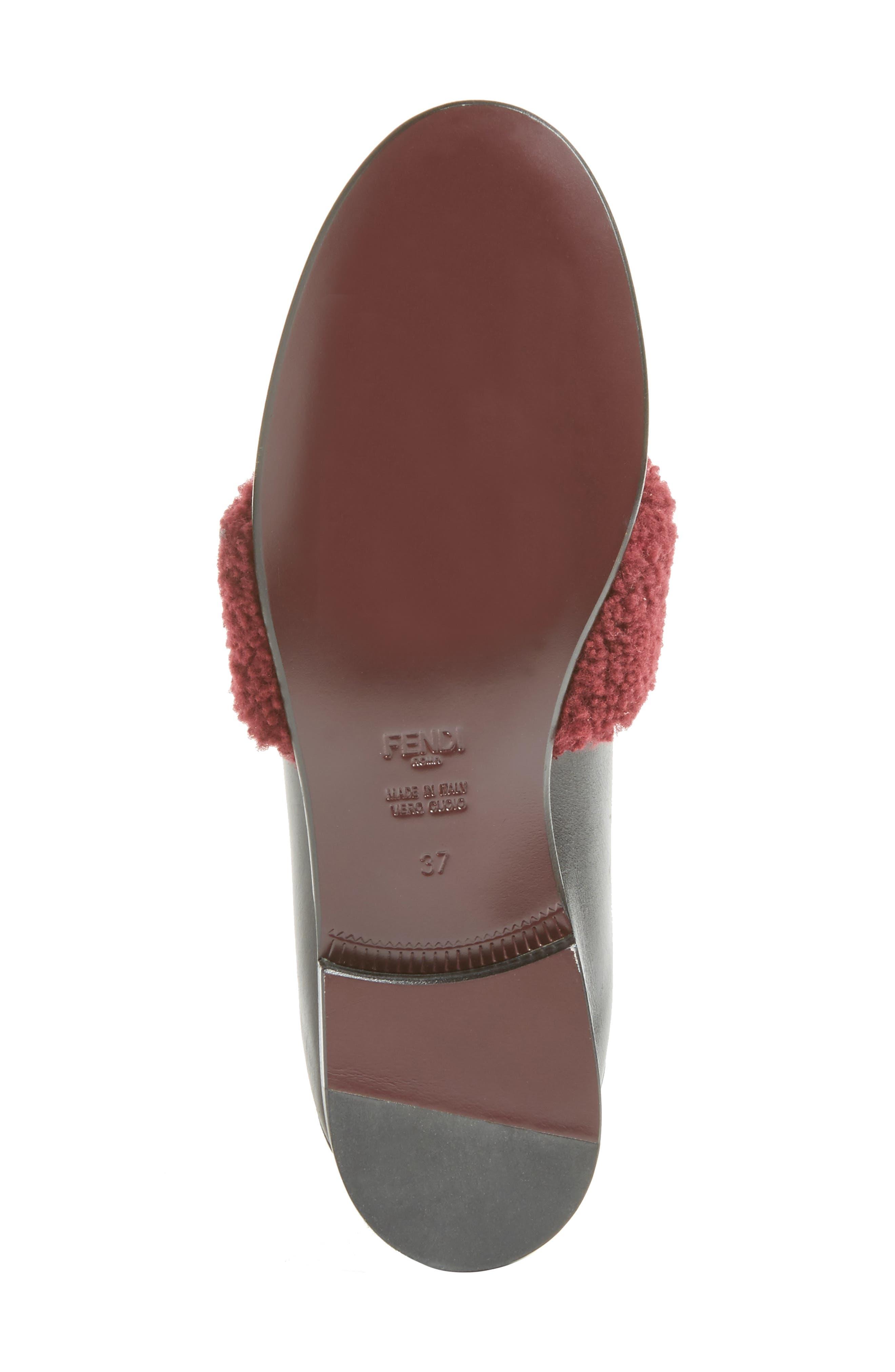 Alternate Image 5  - Fendi Genuine Shearling Slip-On Loafer (Women)