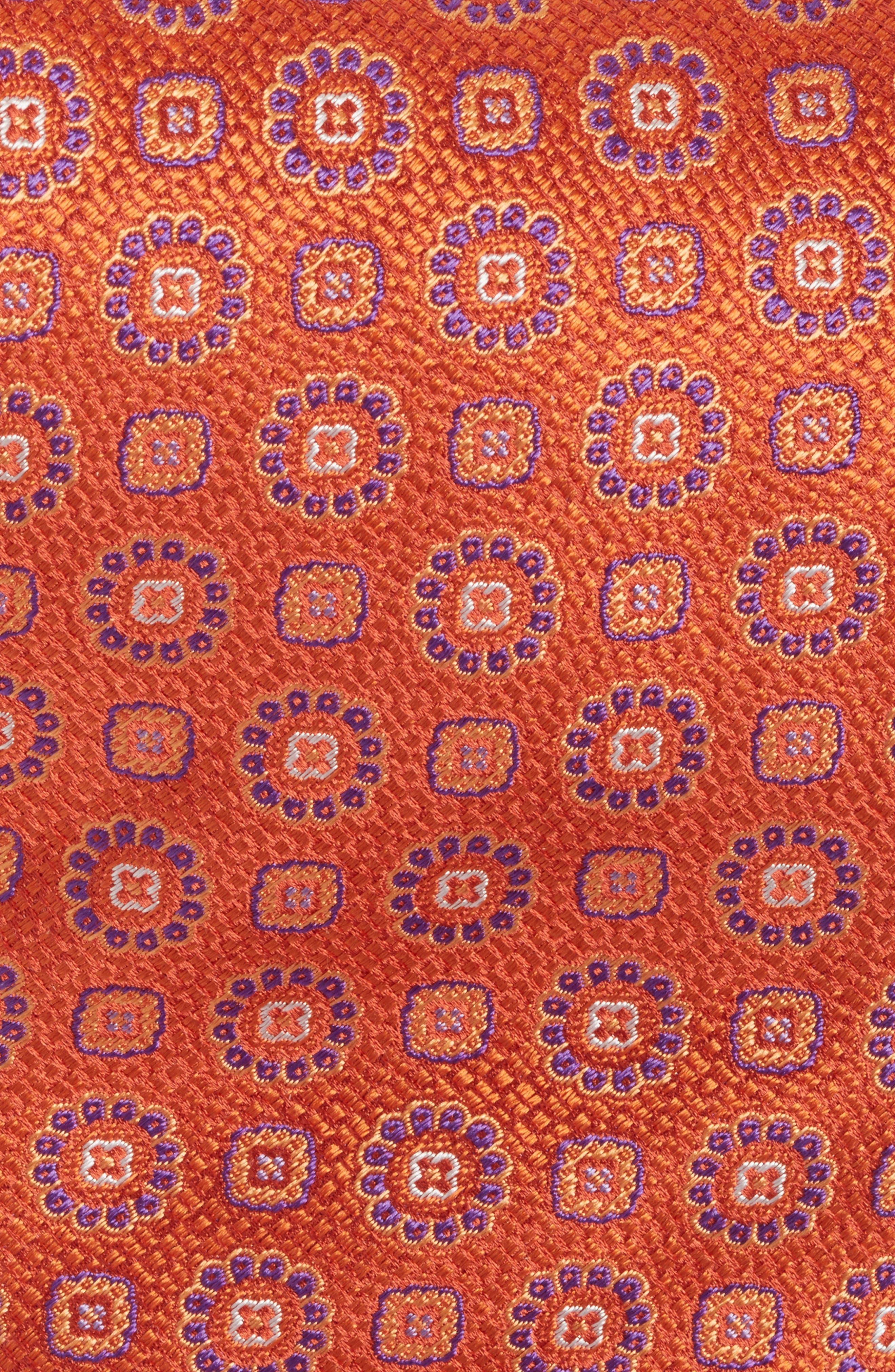 Medallion Silk Tie,                             Alternate thumbnail 2, color,                             Melon