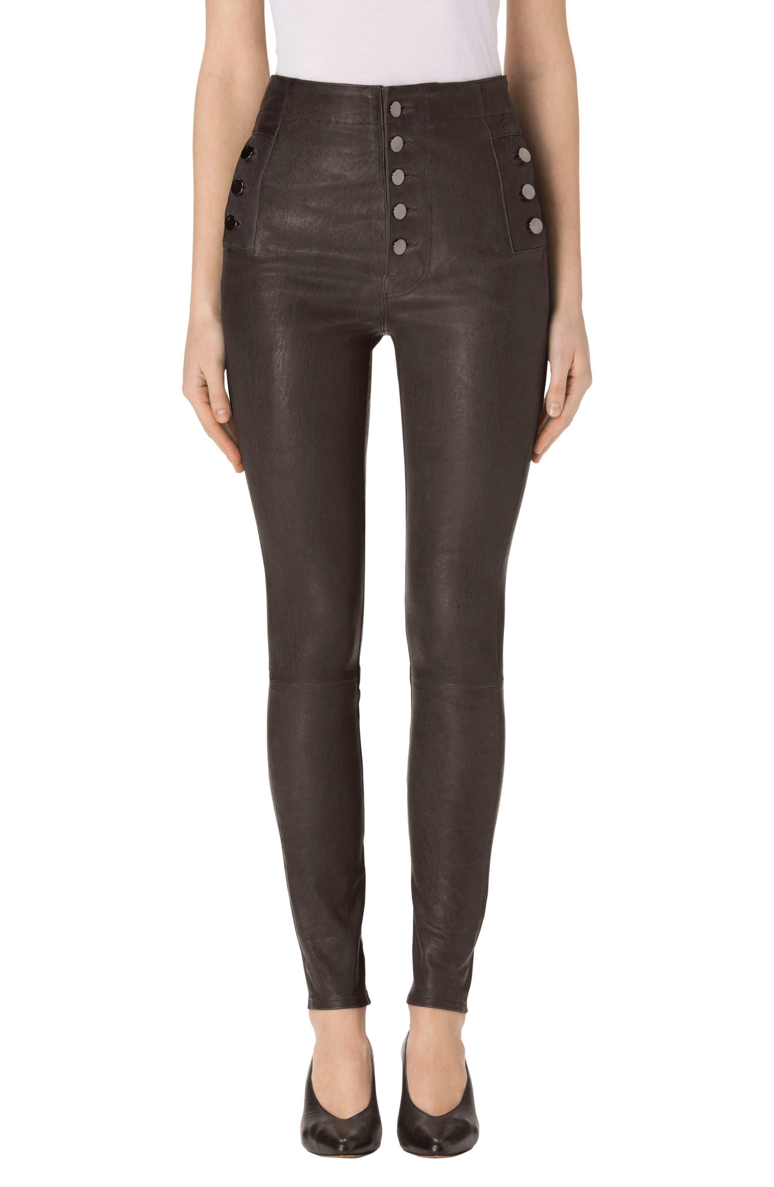 J Brand Natasha High Waist Skinny Leather Pants